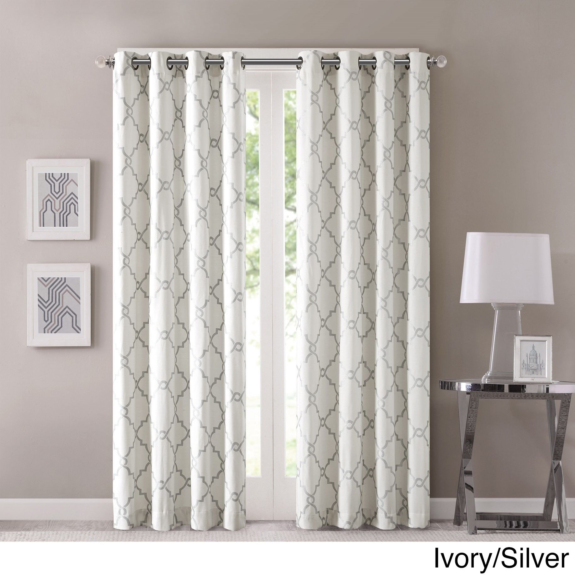 Madison Park Westmont Curtain Panel (50x63 Ivory/silver Intended For Luxury Collection Cranston Sheer Curtain Panel Pairs (View 11 of 20)