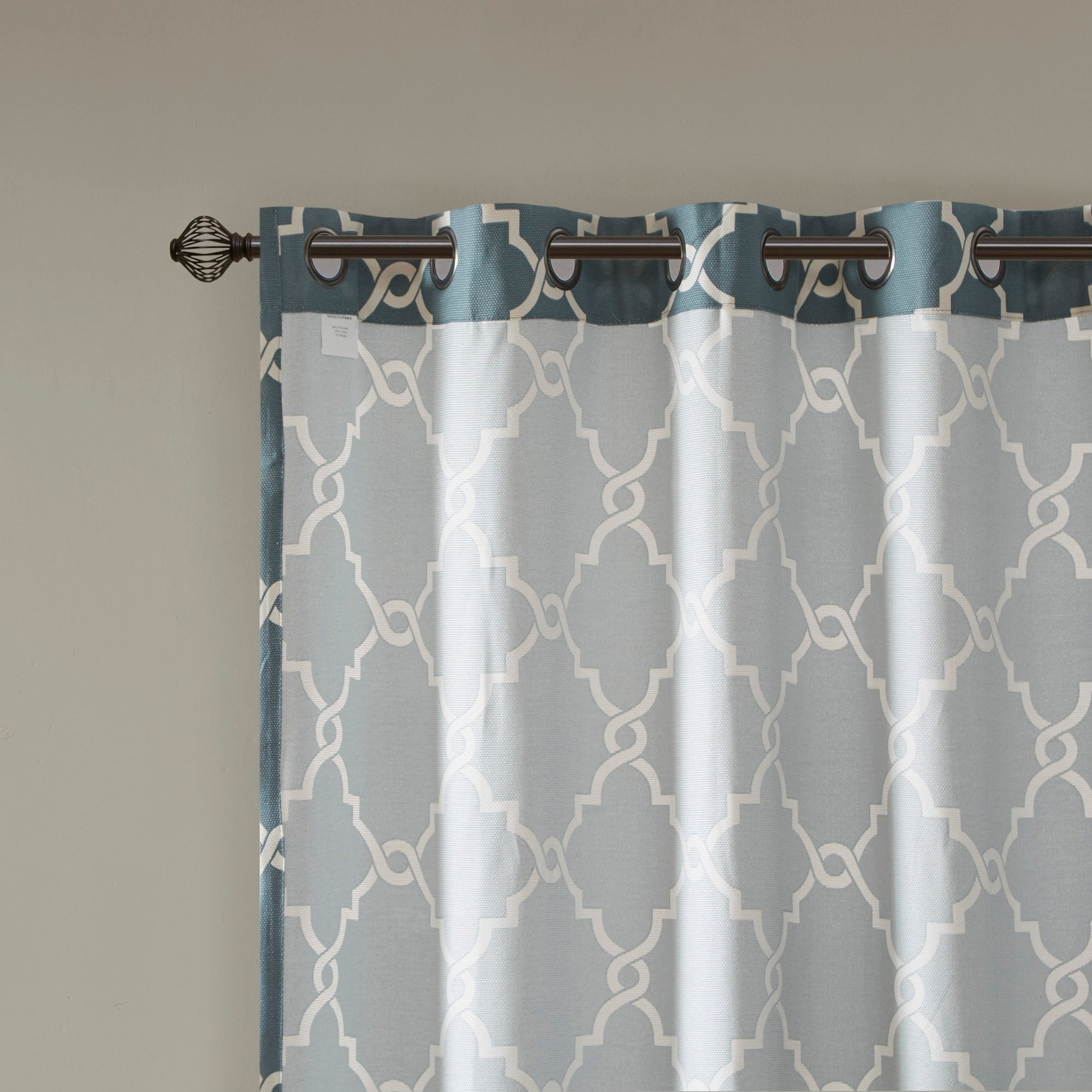 Madison Park Westmont Fretwork Print Pattern Single Curtain Panel For Fretwork Print Pattern Single Curtain Panels (View 3 of 20)