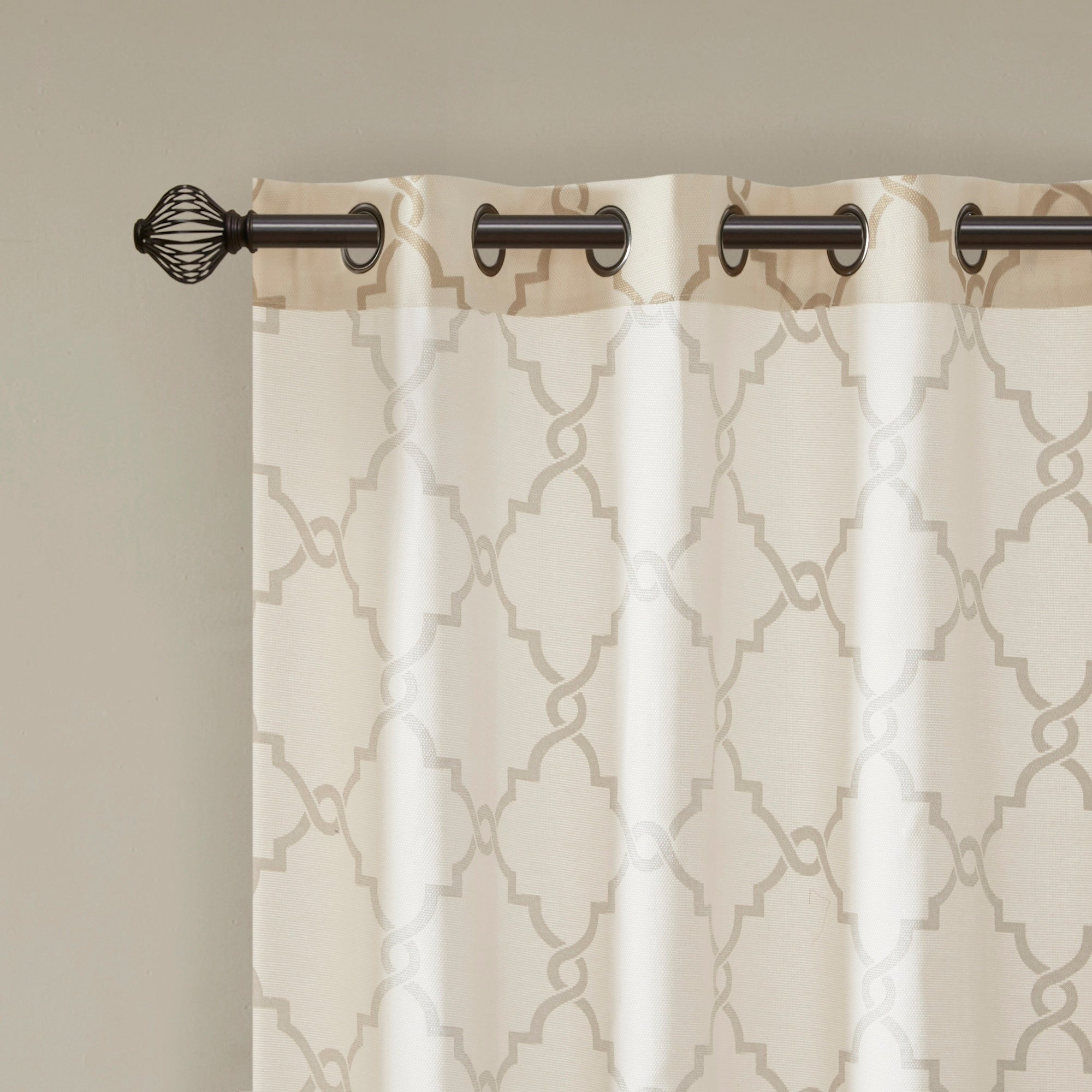Madison Park Westmont Fretwork Print Pattern Single Curtain Panel Intended For Fretwork Print Pattern Single Curtain Panels (View 7 of 20)