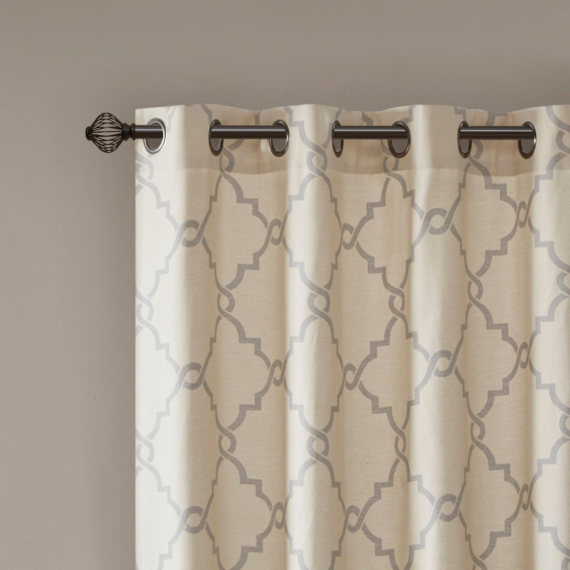 Madison Park Westmont Fretwork Print Pattern Single Curtain Panel Regarding Fretwork Print Pattern Single Curtain Panels (View 4 of 20)