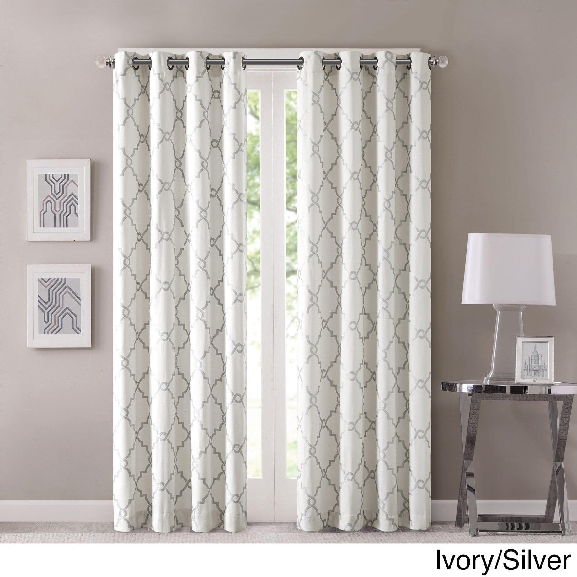 Madison Park Westmont Geometric Pattern Single Curtain Panel Pertaining To Fretwork Print Pattern Single Curtain Panels (View 5 of 20)