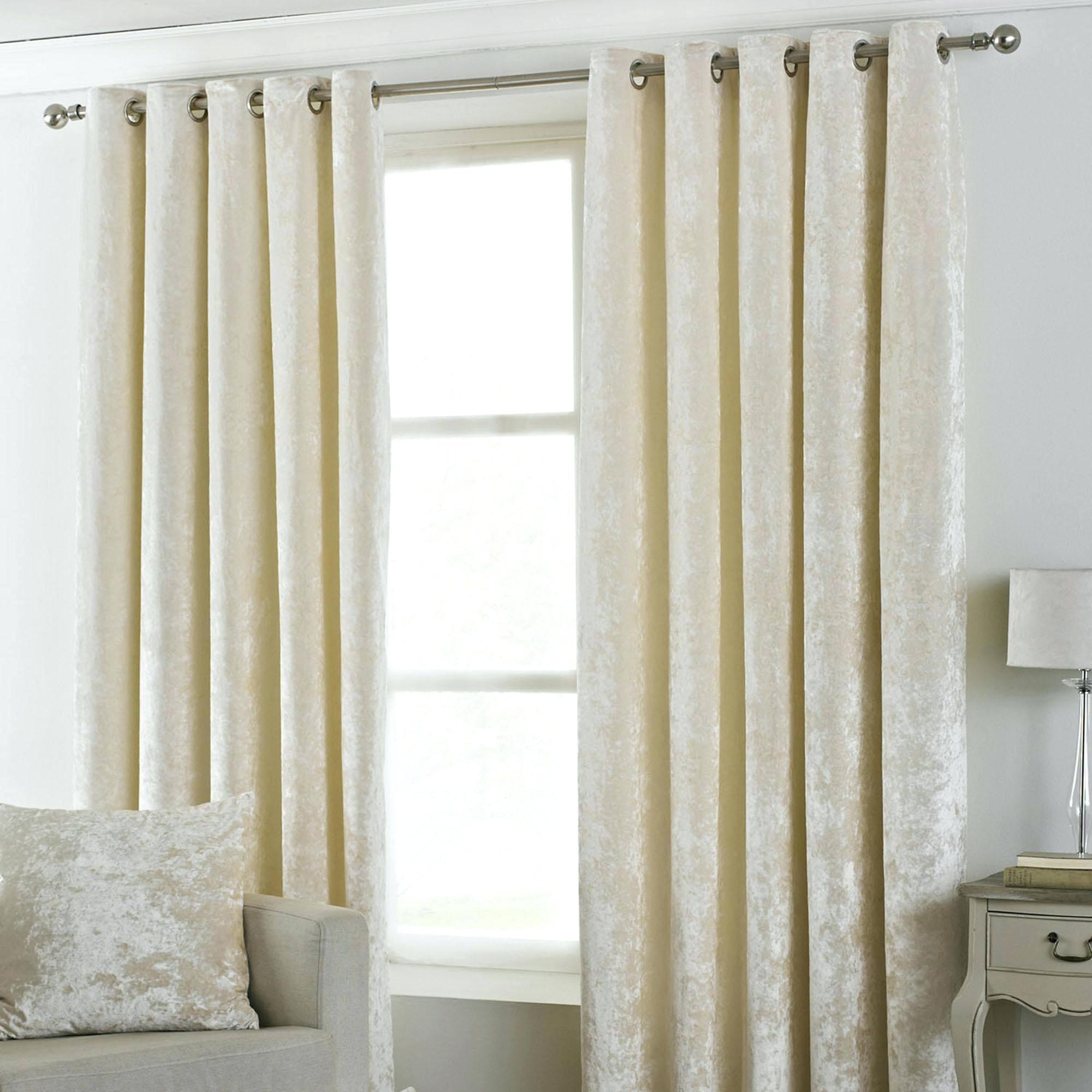 Main Ivory Velvet Curtains Eyelet Decorating – Dapdap Within Signature Ivory Velvet Blackout Single Curtain Panels (View 22 of 34)