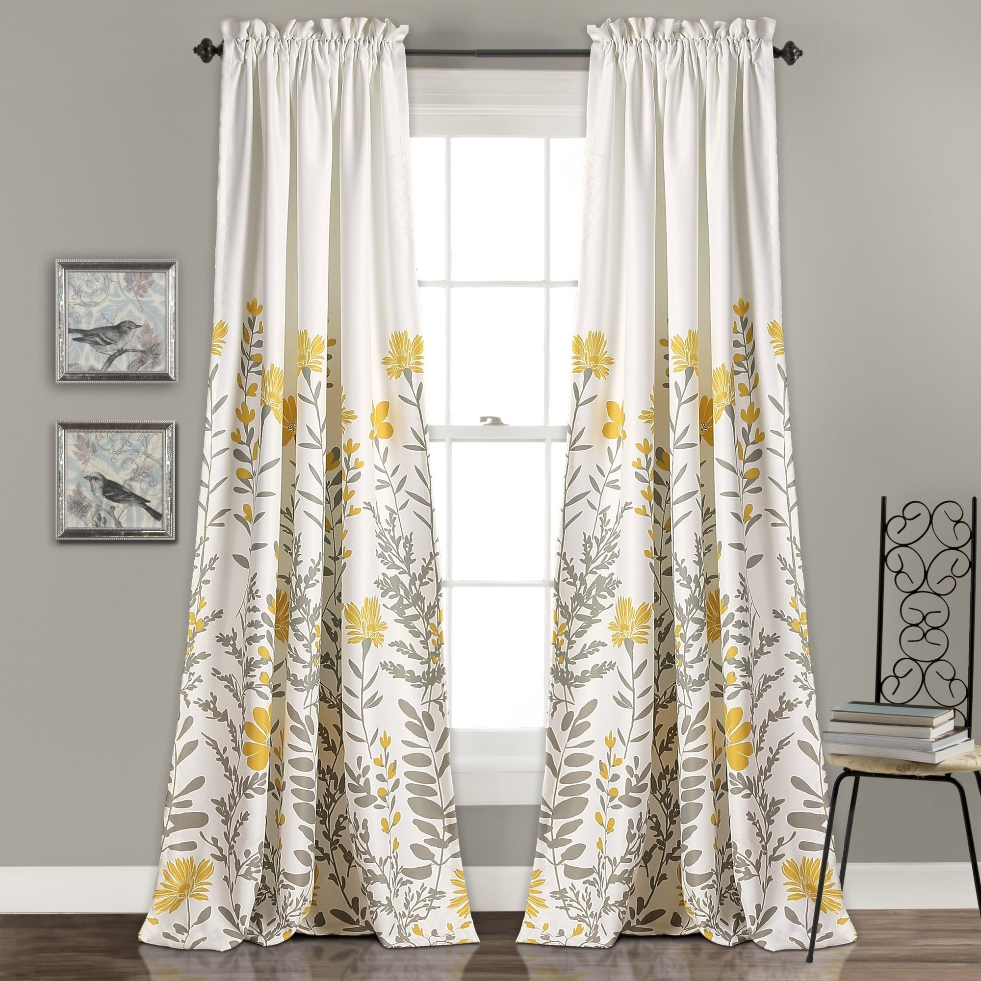 "Maison Rouge Villon Room Darkening Curtain Panel Pair (84"" X regarding Floral Pattern Room Darkening Window Curtain Panel Pairs (Image 15 of 20)"