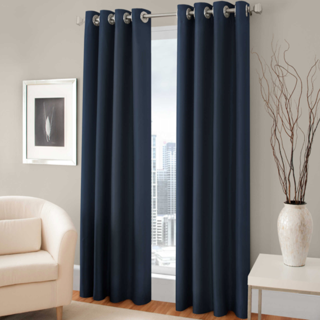 """Majestic 84"""" L, 1 Blackout Lined Grommet Curtain Panel – Blue For Lined Grommet Curtain Panels (View 14 of 20)"""