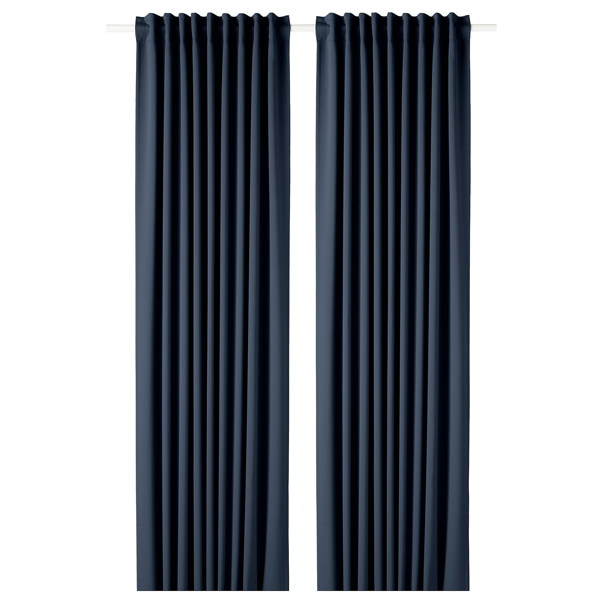 Majgull Blackout Curtains, 1 Pair, Dark Blue Pertaining To London Blackout Panel Pair (View 8 of 20)