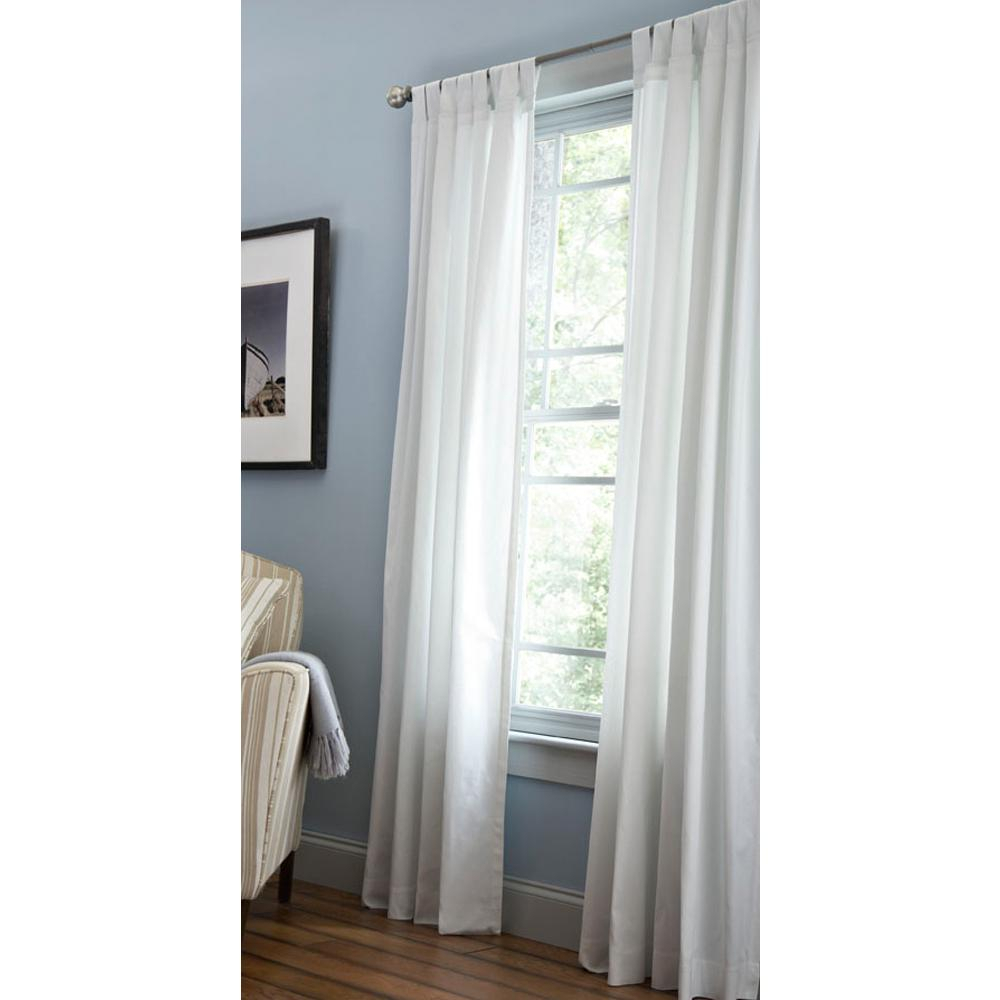 Martha Stewart Living Classic Cotton Light Filtering Window Panel In Pure White – 50 In. W X 84 In (View 25 of 30)