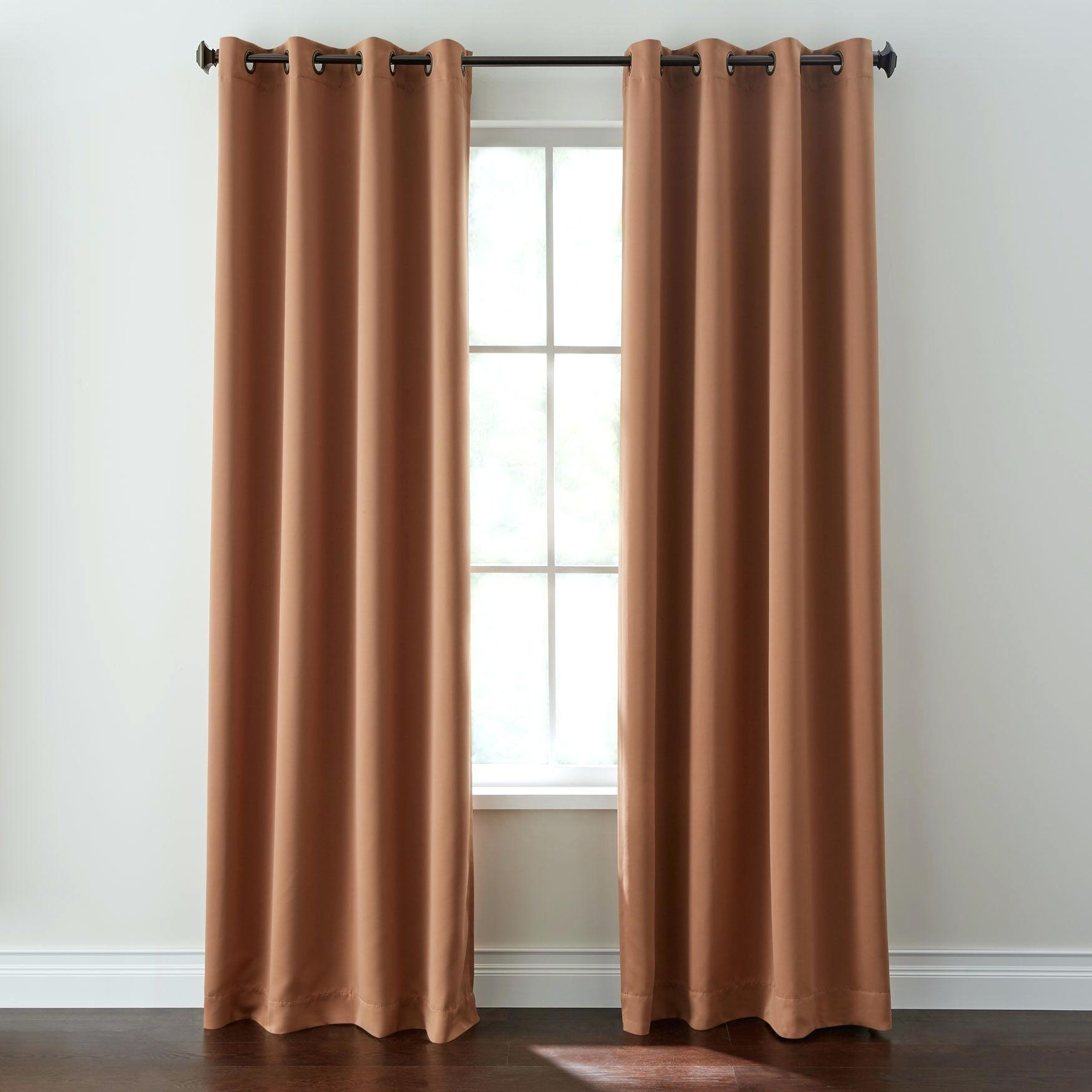 Marvellous Grommet Curtains Outdoor On Sale Blackout Diy inside Ultimate Blackout Short Length Grommet Panels (Image 18 of 30)