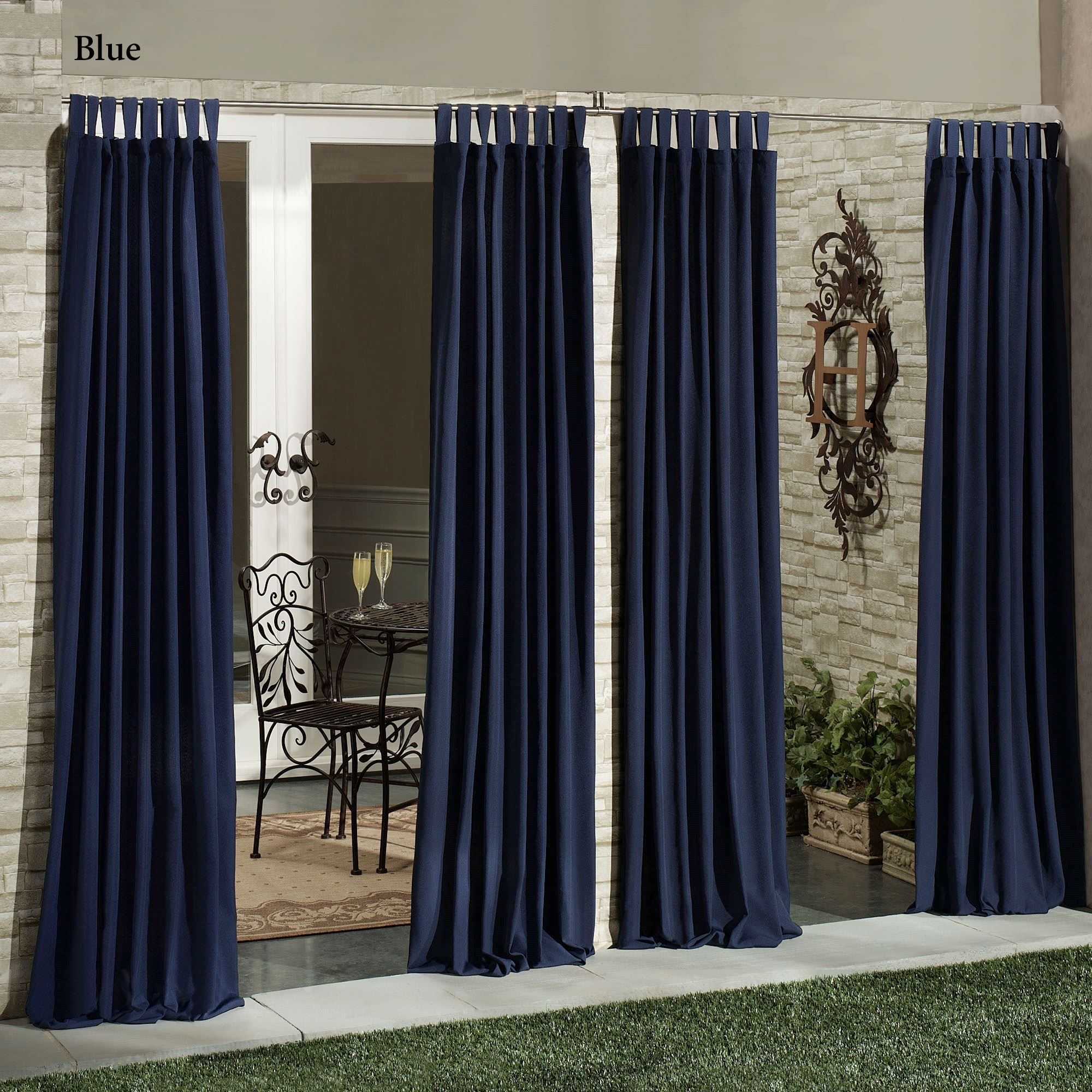Matine Indoor Outdoor Tab Top Curtain Panels Pertaining To Matine Indoor/outdoor Curtain Panels (View 5 of 20)