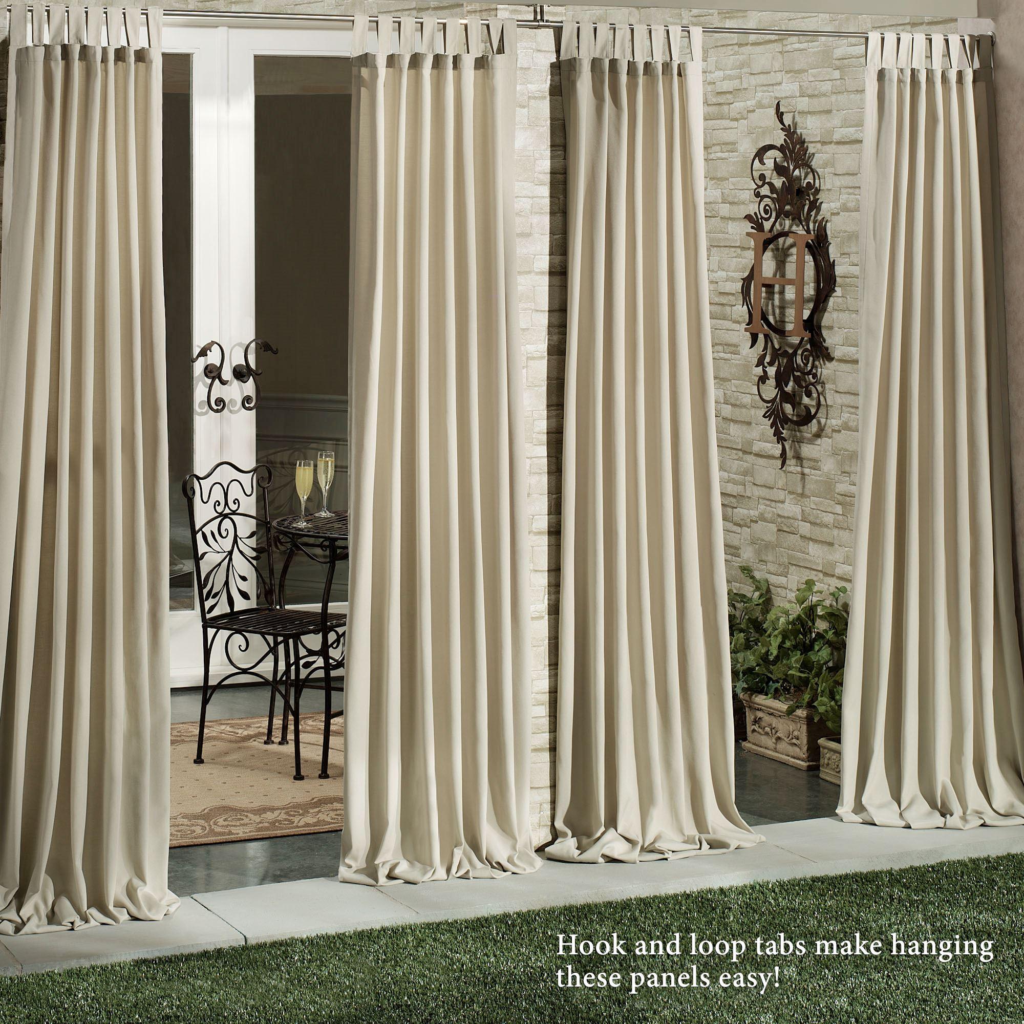 Matine Indoor Outdoor Tab Top Curtain Panels Regarding Matine Indoor/outdoor Curtain Panels (View 3 of 20)