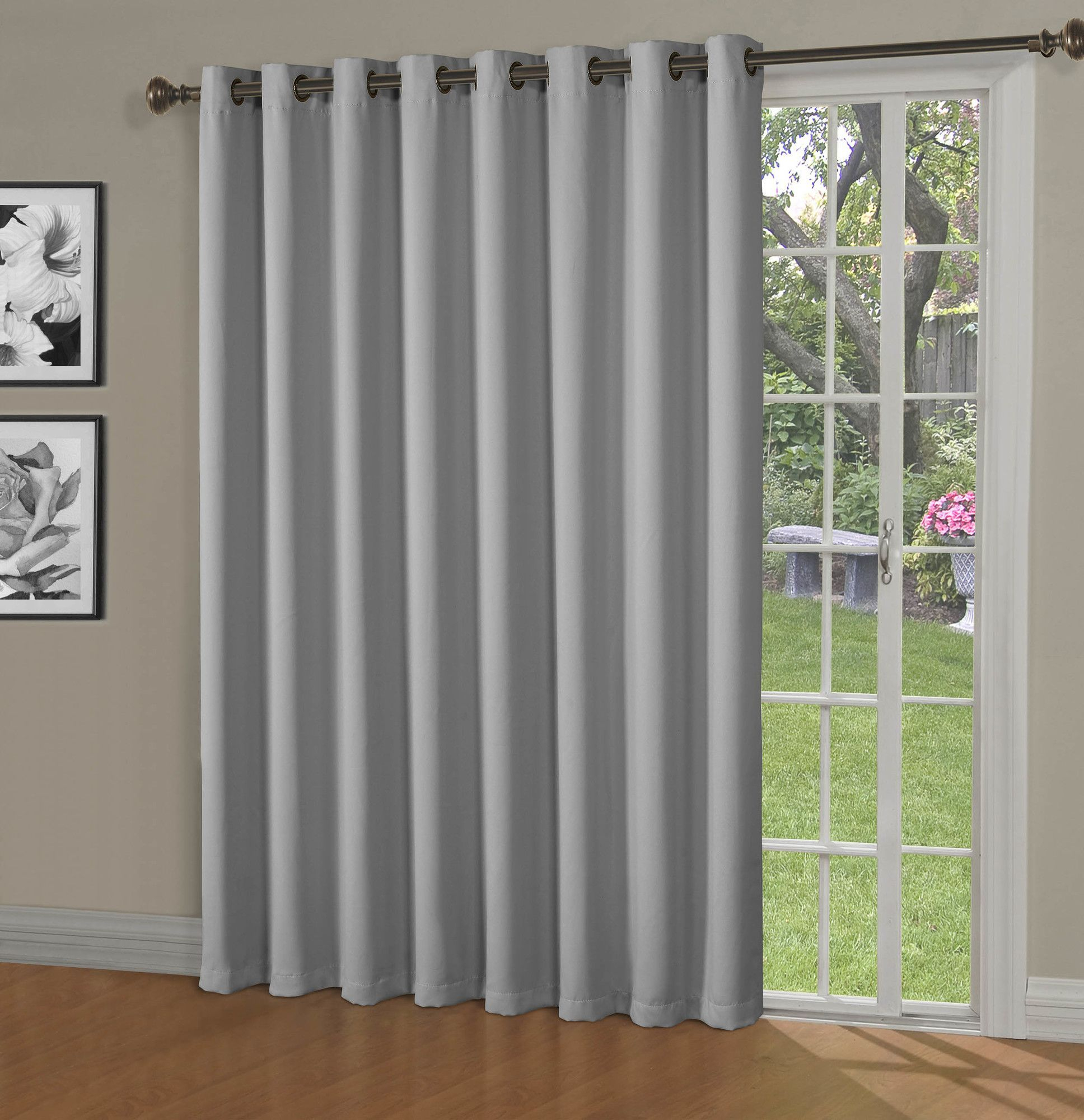Maya Blackout Thermal Patio Door Extra Wide Grommet Curtain With Grommet Blackout Patio Door Window Curtain Panels (View 11 of 20)