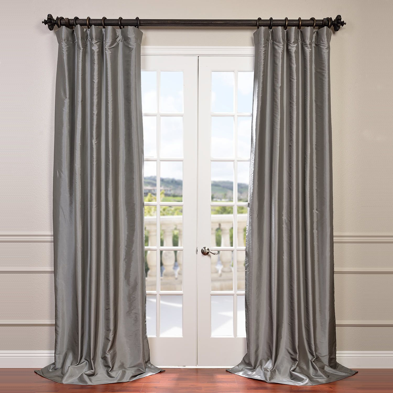 Melinda Solid Semi Opaque Single Curtain Panel | Products With Regard To Solid Faux Silk Taffeta Graphite Single Curtain Panels (View 27 of 30)