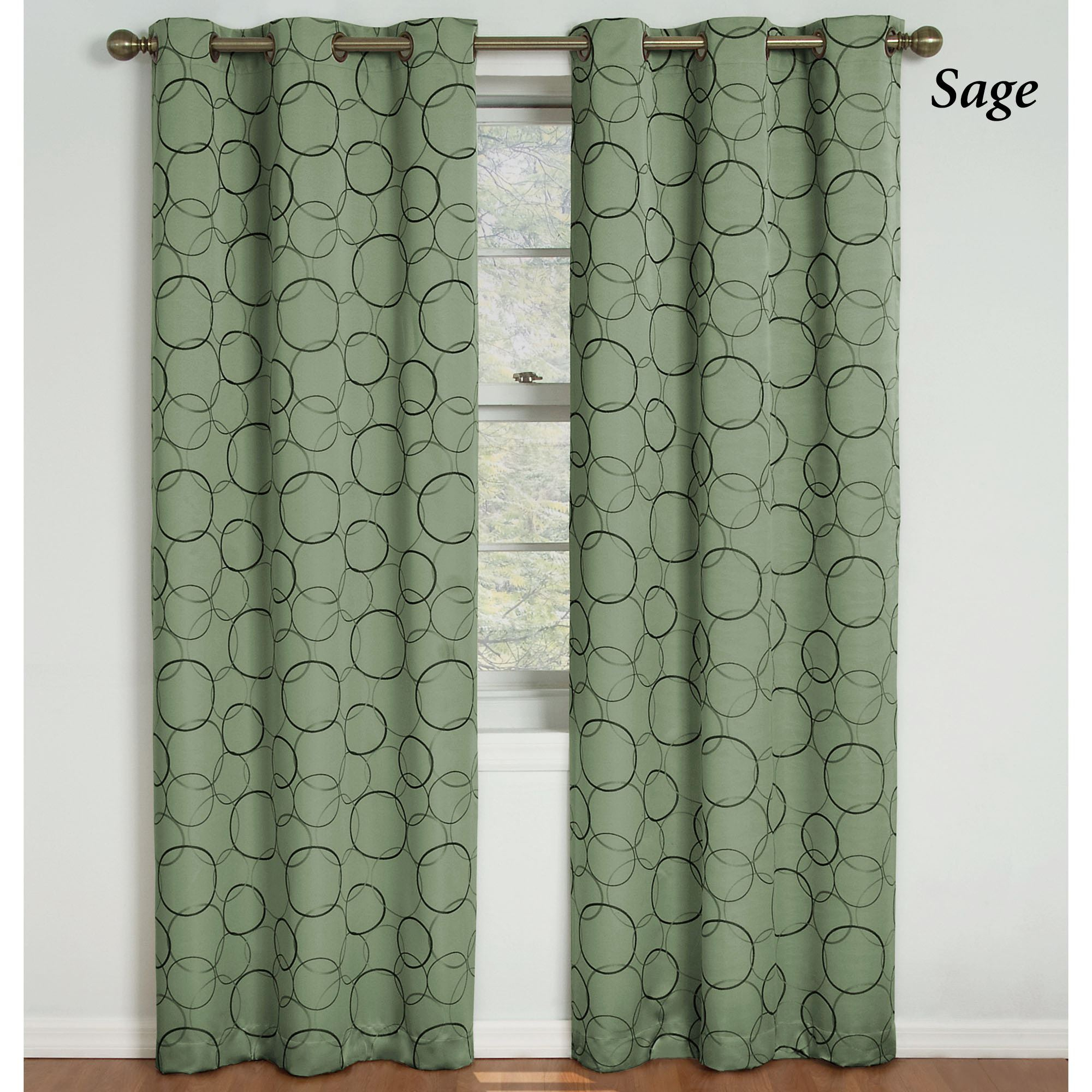 Meridian Thermaback(tm) Blackout Grommet Curtain Panel Inside Meridian Blackout Window Curtain Panels (View 6 of 20)