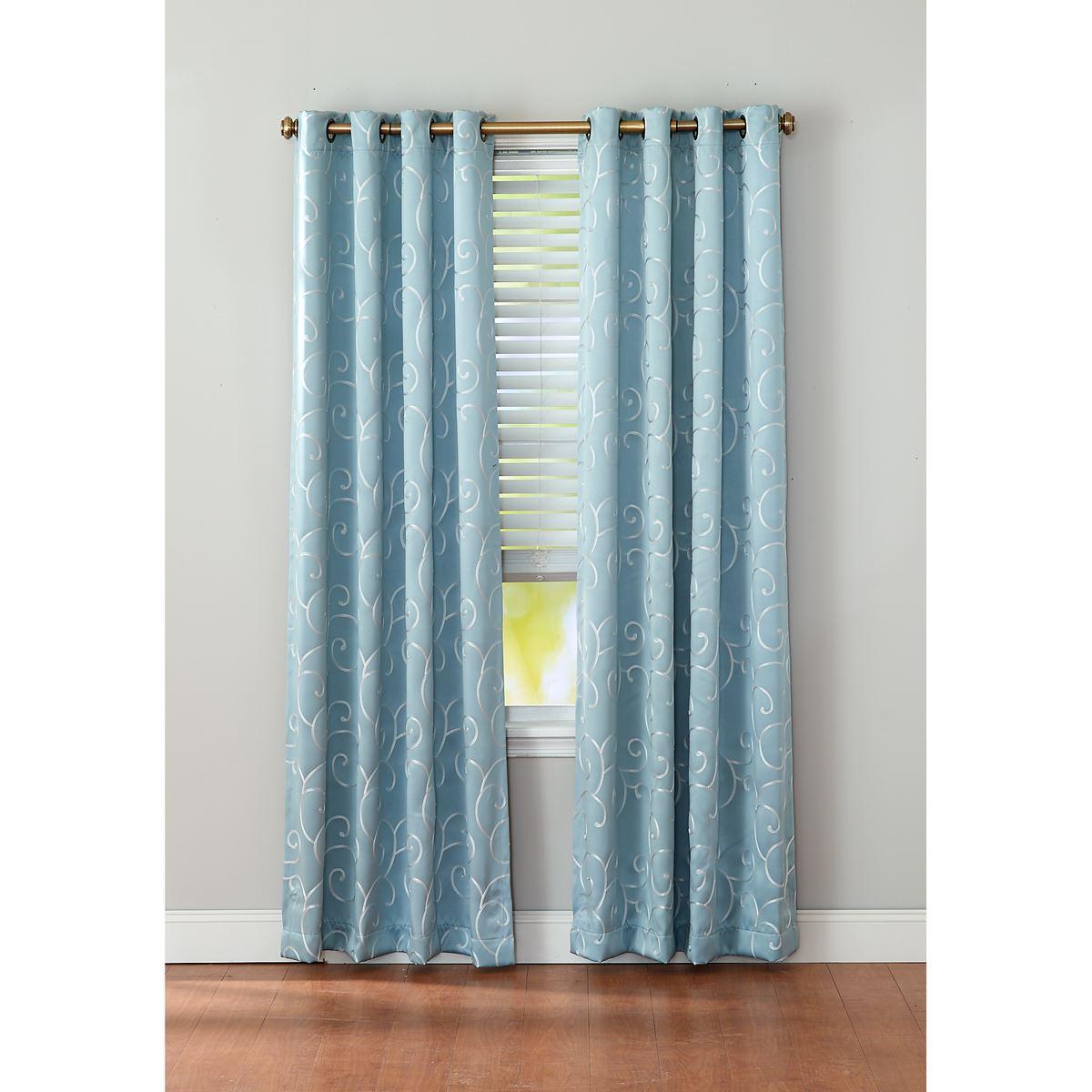 Merrit Blackout Grommet Curtain Panel Pertaining To Blackout Grommet Curtain Panels (View 14 of 20)