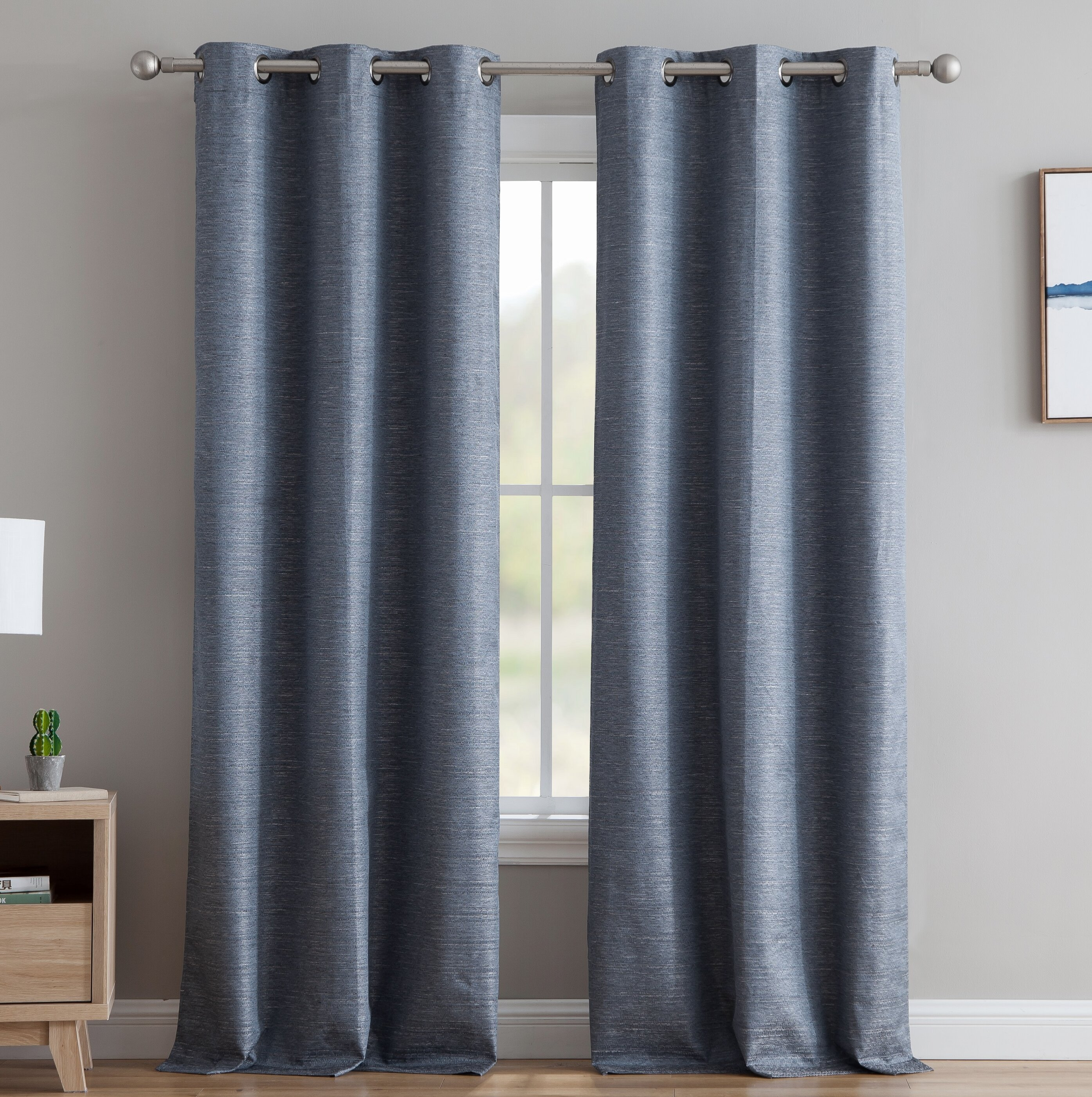 Middlewich Textured Solid Max Blackout Thermal Grommet Curtain Panels In Embossed Thermal Weaved Blackout Grommet Drapery Curtains (View 9 of 20)