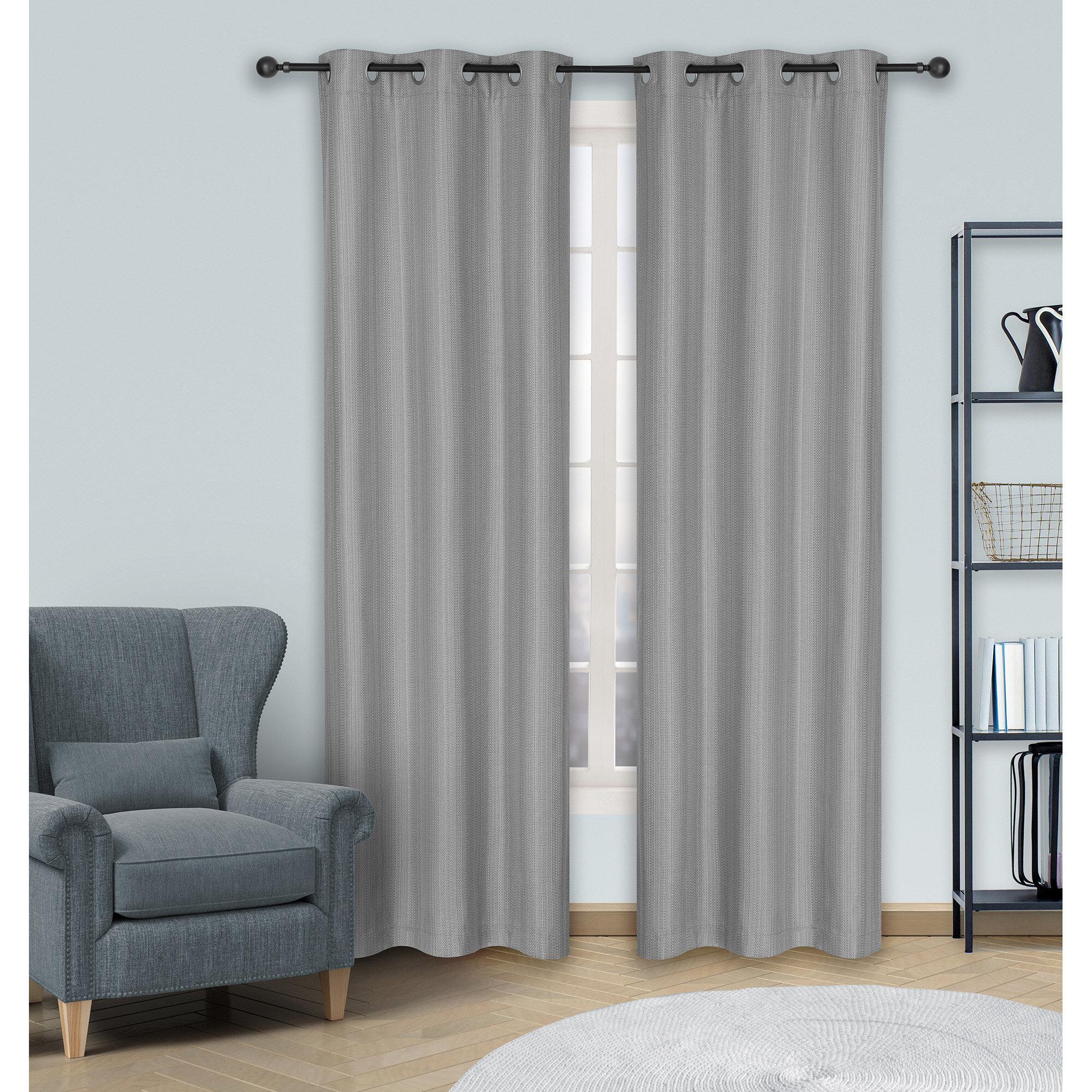 Miera Solid Room Darkening Thermal Grommet Curtain Panels in Grommet Room Darkening Curtain Panels (Image 11 of 20)