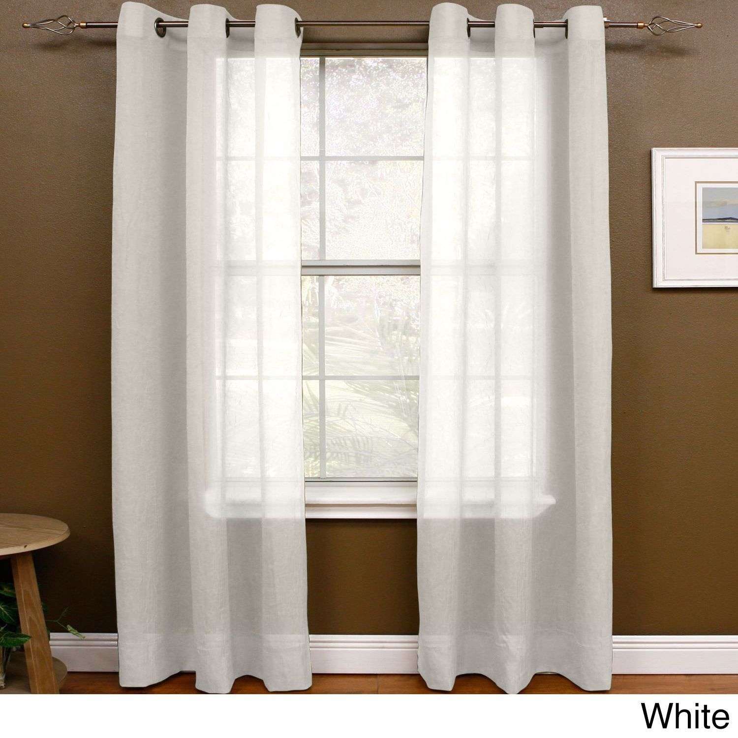 Miller Curtains Preston 63 Inch Grommet Sheer Panel (48 X 63 With Elegant Comfort Window Sheer Curtain Panel Pairs (View 11 of 20)