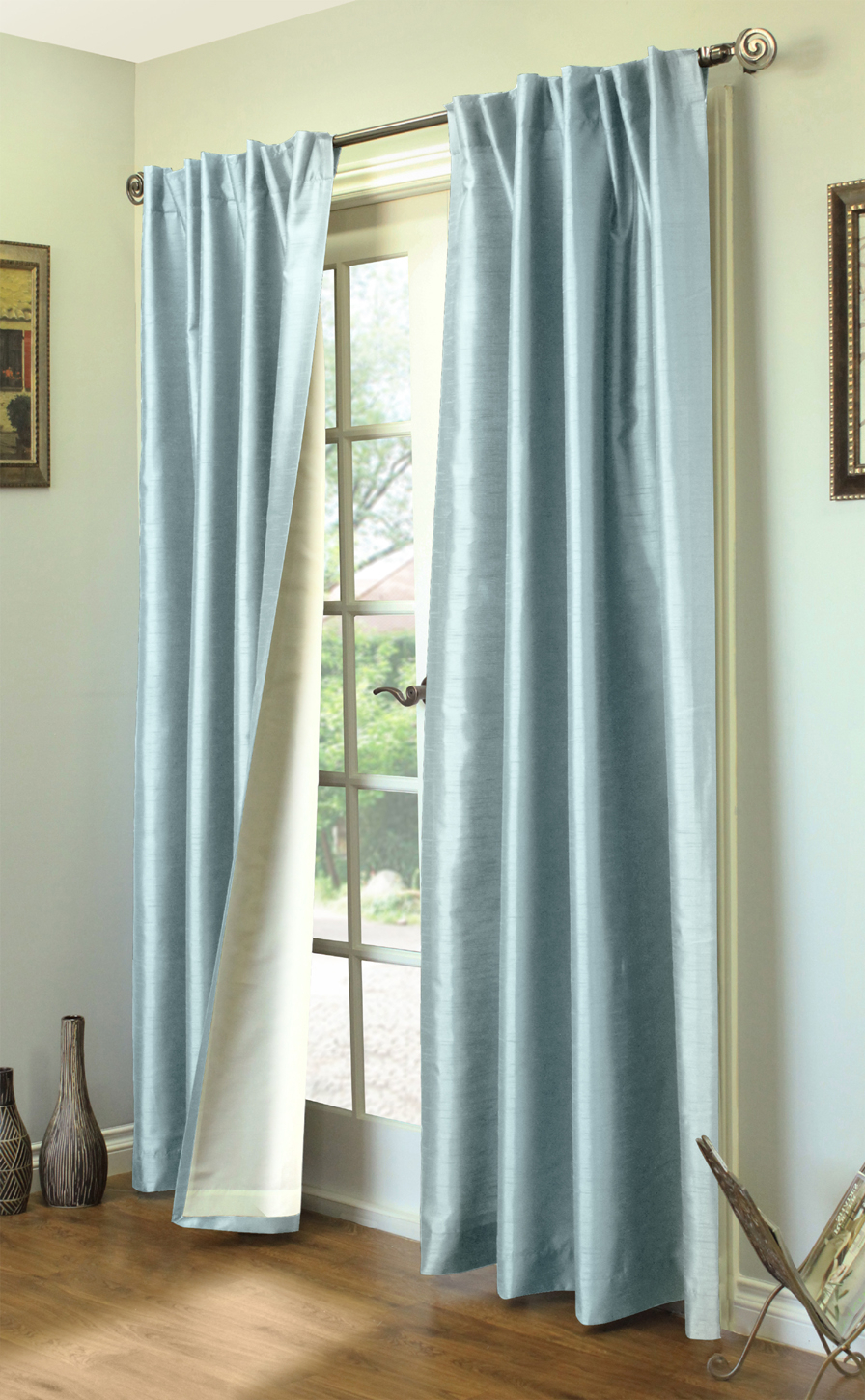 Ming Lined Thermasilk – Two Ways To Hang Curtain Panels (pair) With Regard To Curtain Panel Pairs (View 2 of 20)