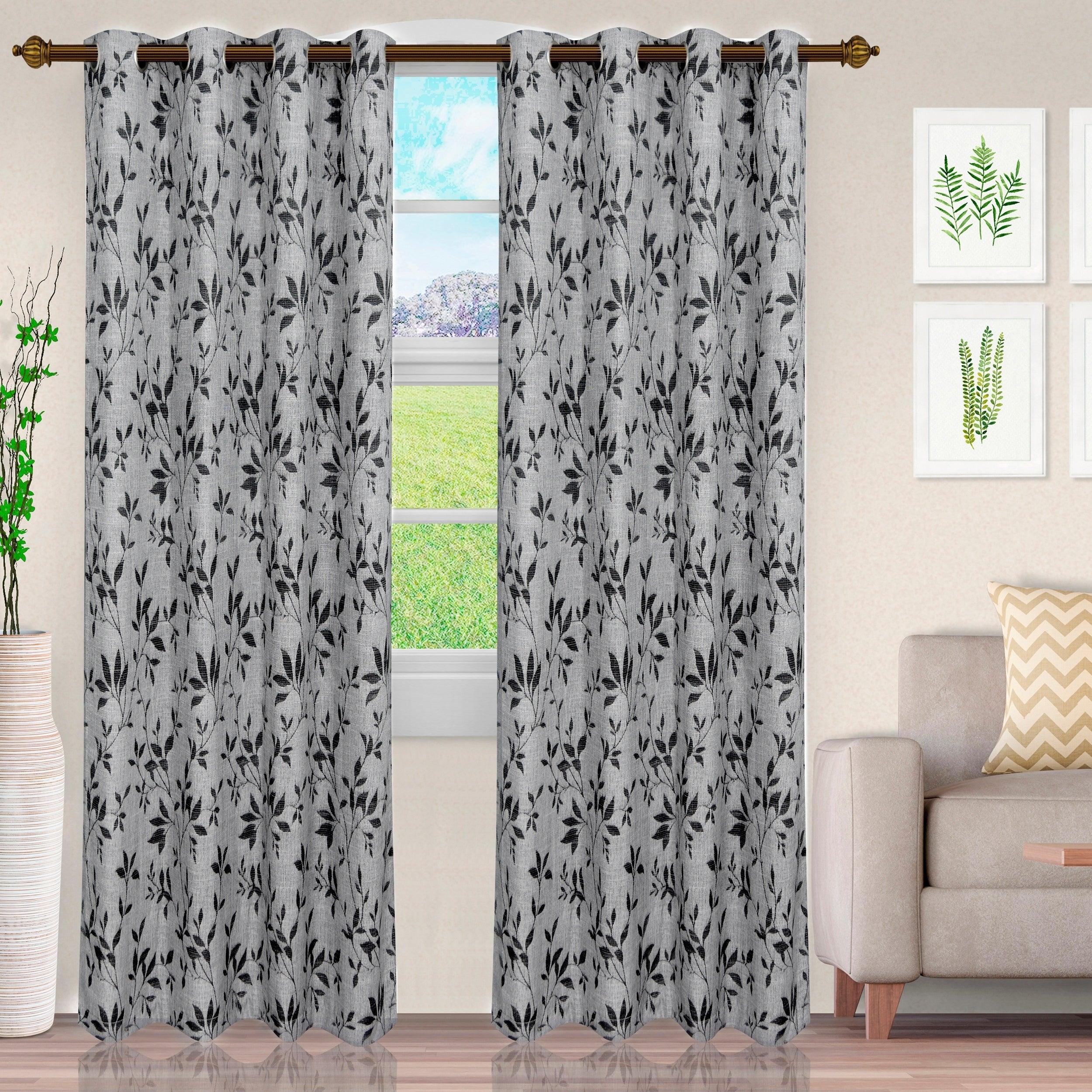 Miranda Haus Comera Jacquard Grommet Curtain Panel (set Of 2) With Regard To Miranda Haus Labrea Damask Jacquard Grommet Curtain Panels (View 12 of 20)