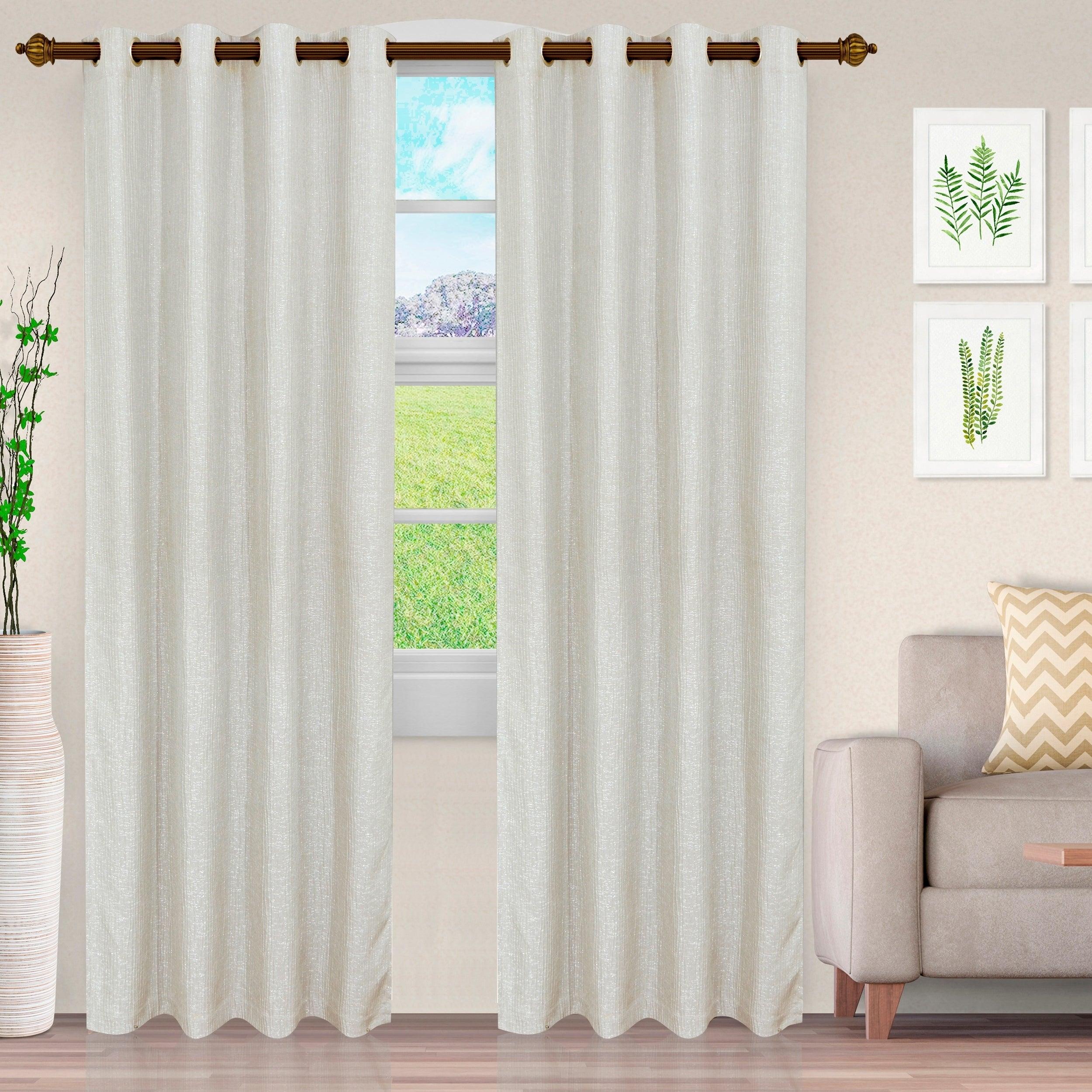 Miranda Haus Hebbe Cascade Jacquard Grommet Curtain Panel (set Of 2) With Miranda Haus Labrea Damask Jacquard Grommet Curtain Panels (View 14 of 20)