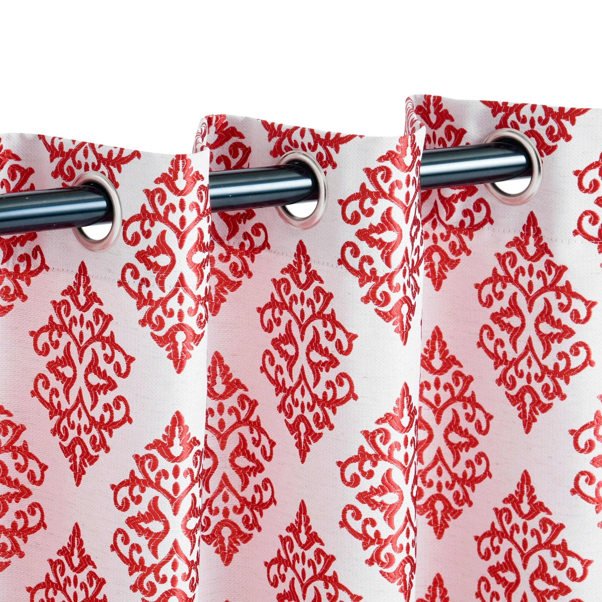 Miranda Haus Labrea Damask Jacquard Grommet Curtain Panel (set Of 2) For Miranda Haus Labrea Damask Jacquard Grommet Curtain Panels (View 10 of 20)
