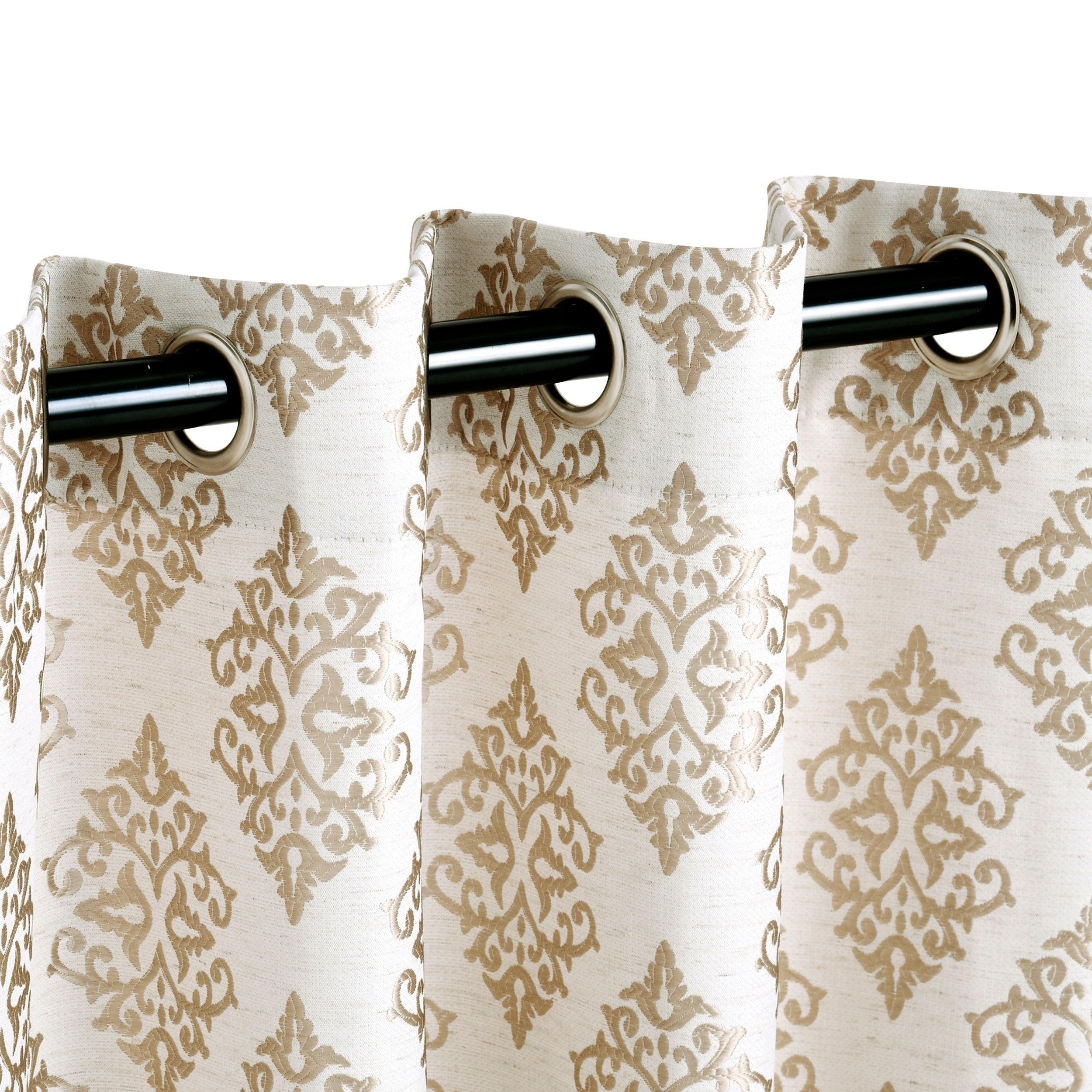 Miranda Haus Labrea Damask Jacquard Grommet Curtain Panel (set Of 2) Throughout Miranda Haus Labrea Damask Jacquard Grommet Curtain Panels (View 3 of 20)
