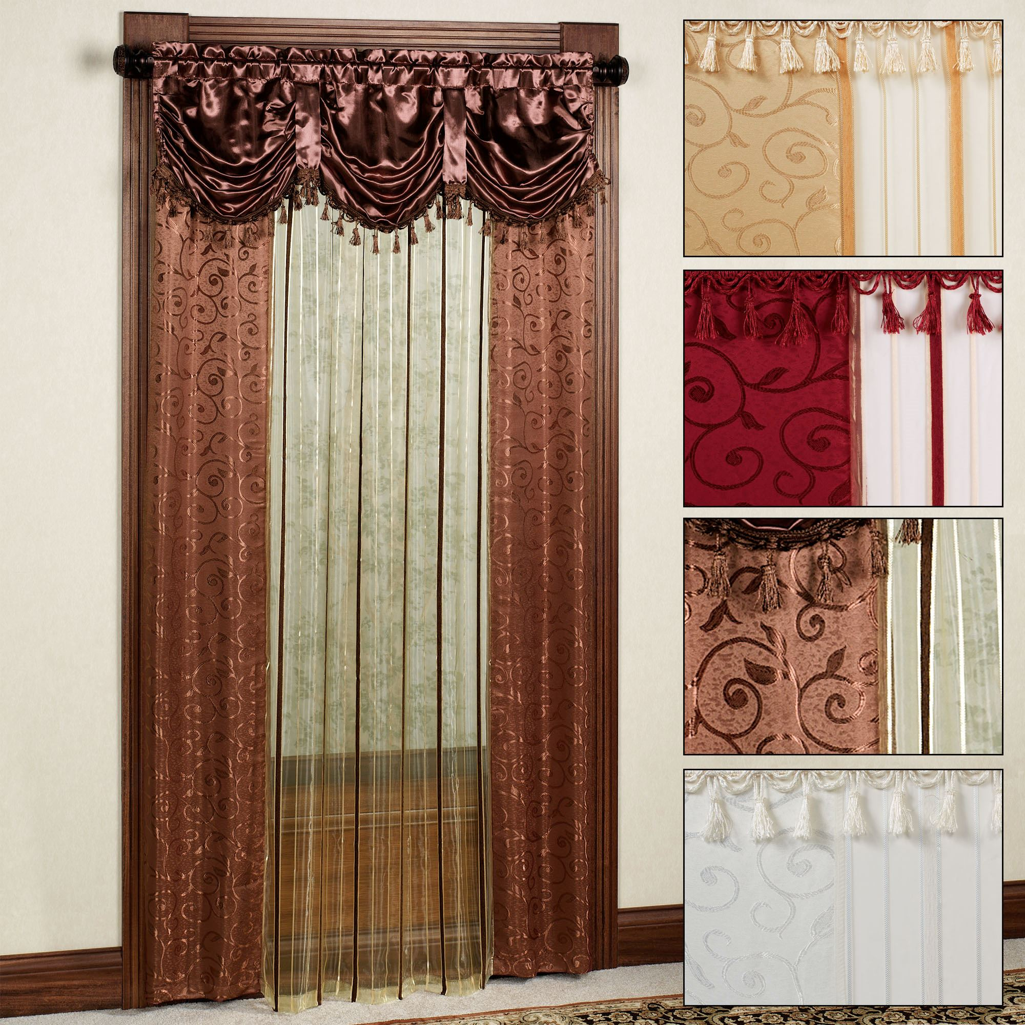 Modern Sheer Curtain Panels With Designs – Creative Design Ideas With Laya Fretwork Burnout Sheer Curtain Panels (View 13 of 20)