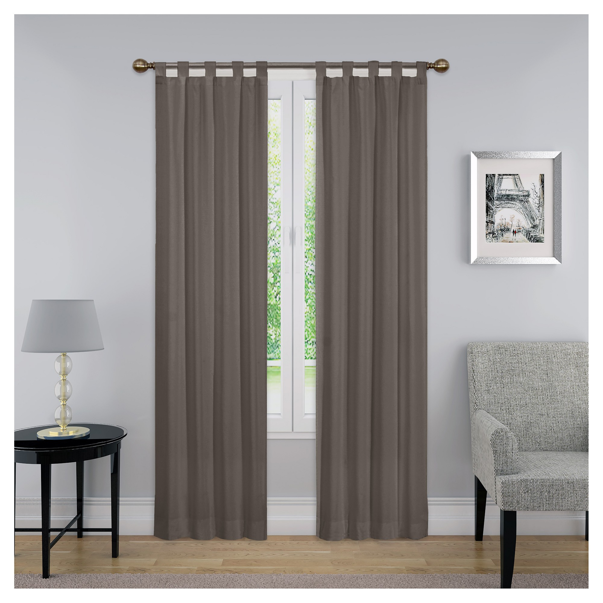 "Montana Solid Curtain Panel Pair Gray (30""x63"") – Pairs To Intended For Pairs To Go Victoria Voile Curtain Panel Pairs (View 14 of 20)"