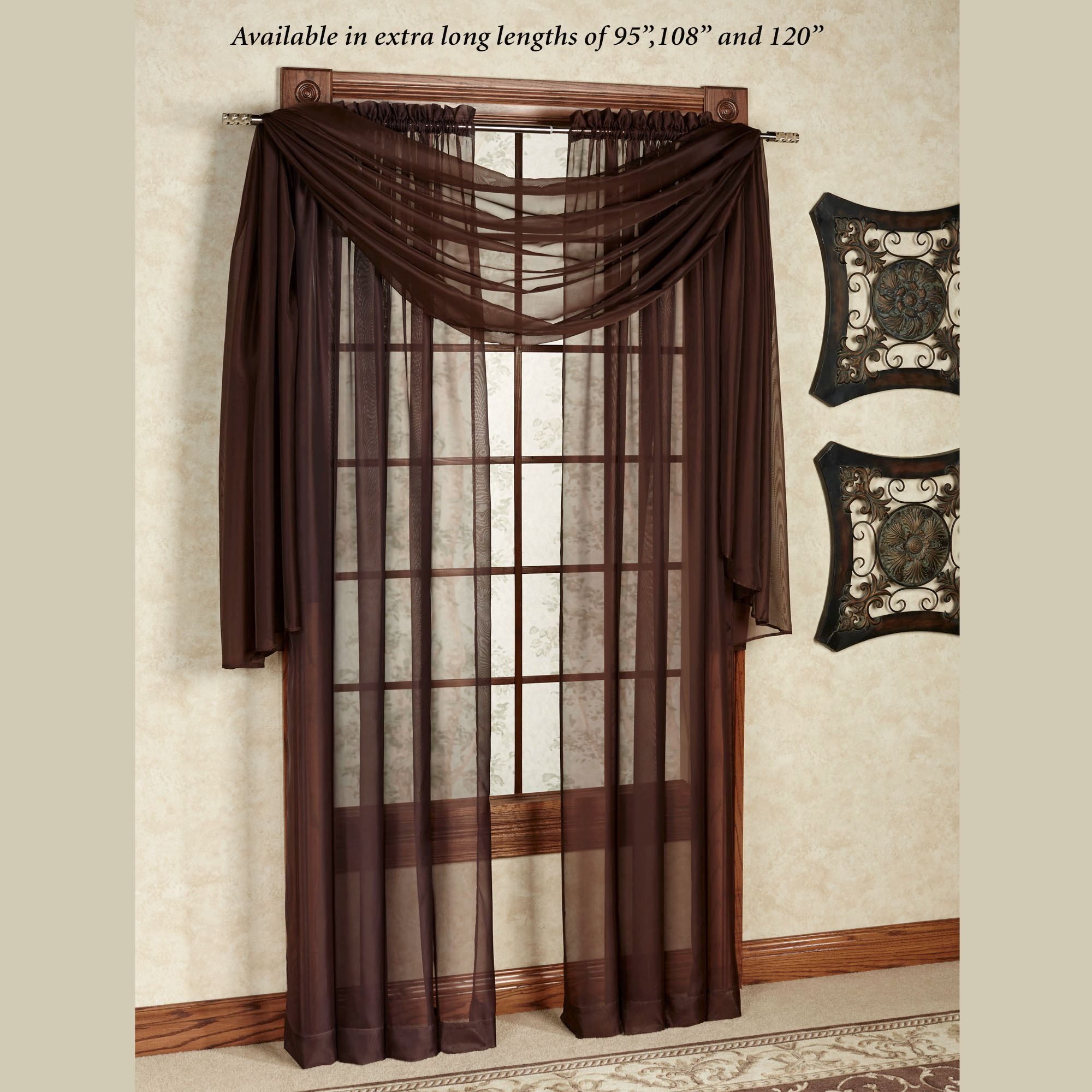 Monte Carlo Sheer Voile Window Treatment Intended For Sheer Voile Waterfall Ruffled Tier Single Curtain Panels (View 18 of 20)