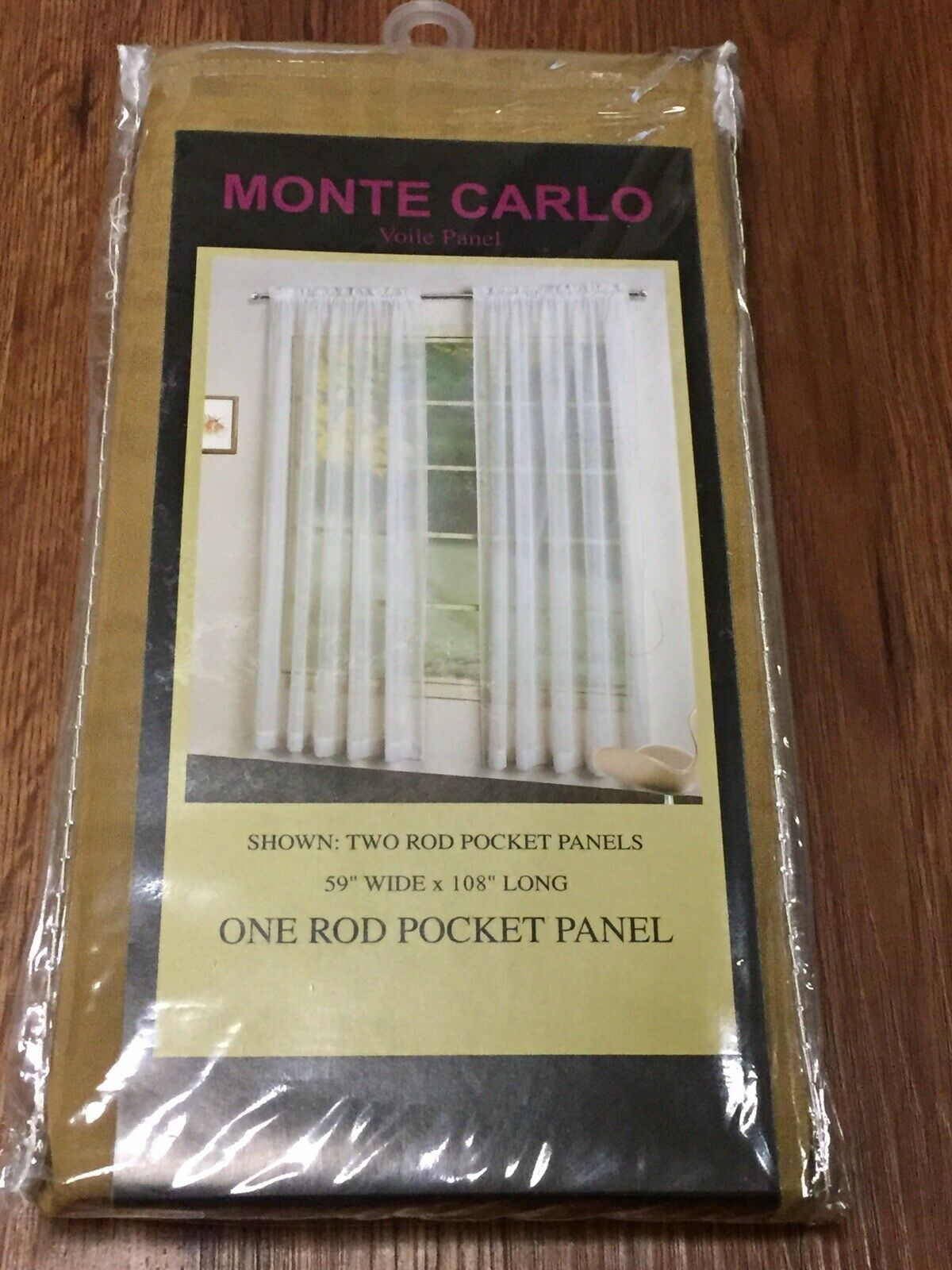 """Monte Carlo Voile Panel One Rod Pocket Panel 59 X 108"""" Bronze In Luxury Collection Monte Carlo Sheer Curtain Panel Pairs (View 14 of 20)"""