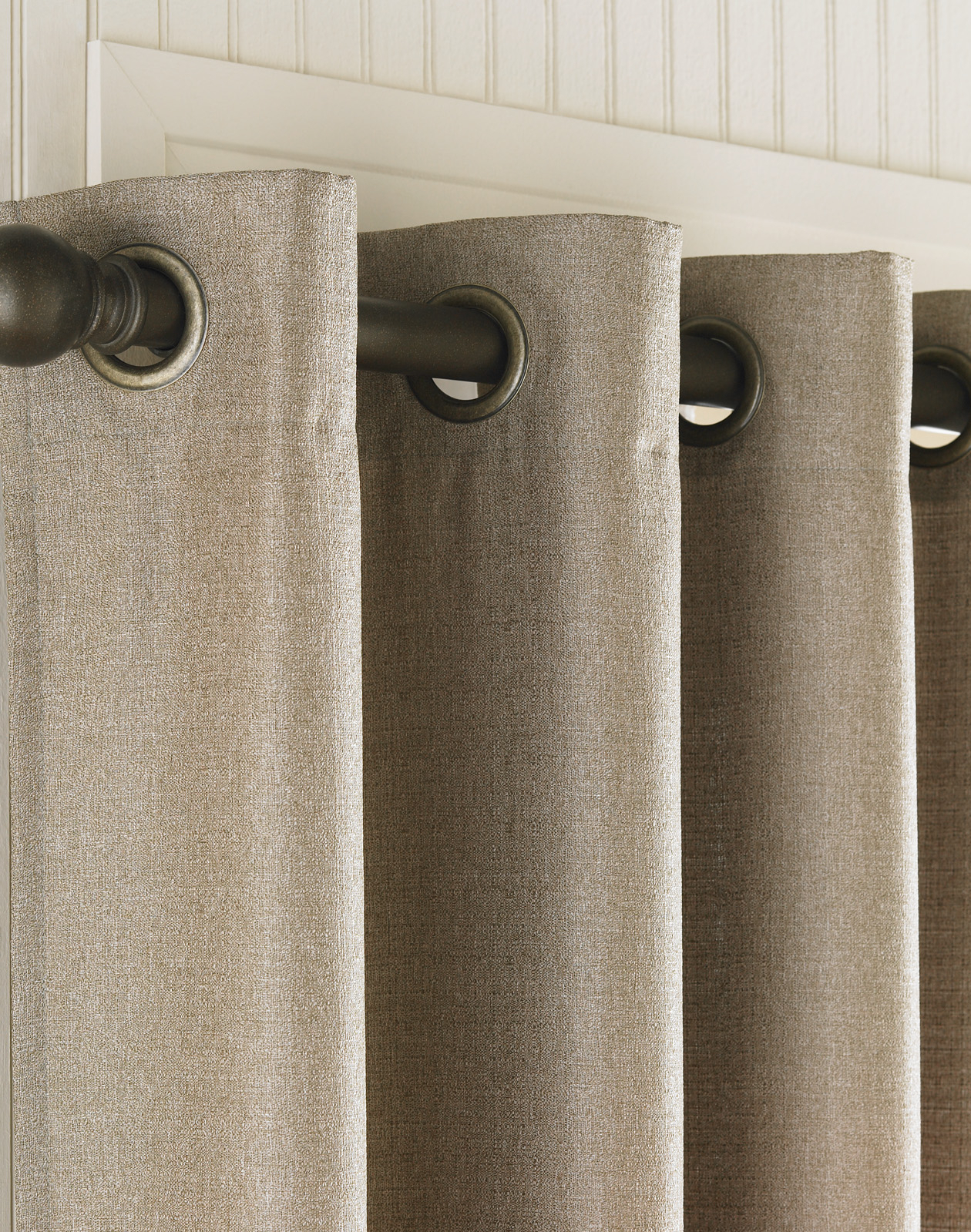 Monterey Textured Lined Grommet Drapery / Curtainworks within Grommet Curtain Panels (Image 15 of 20)