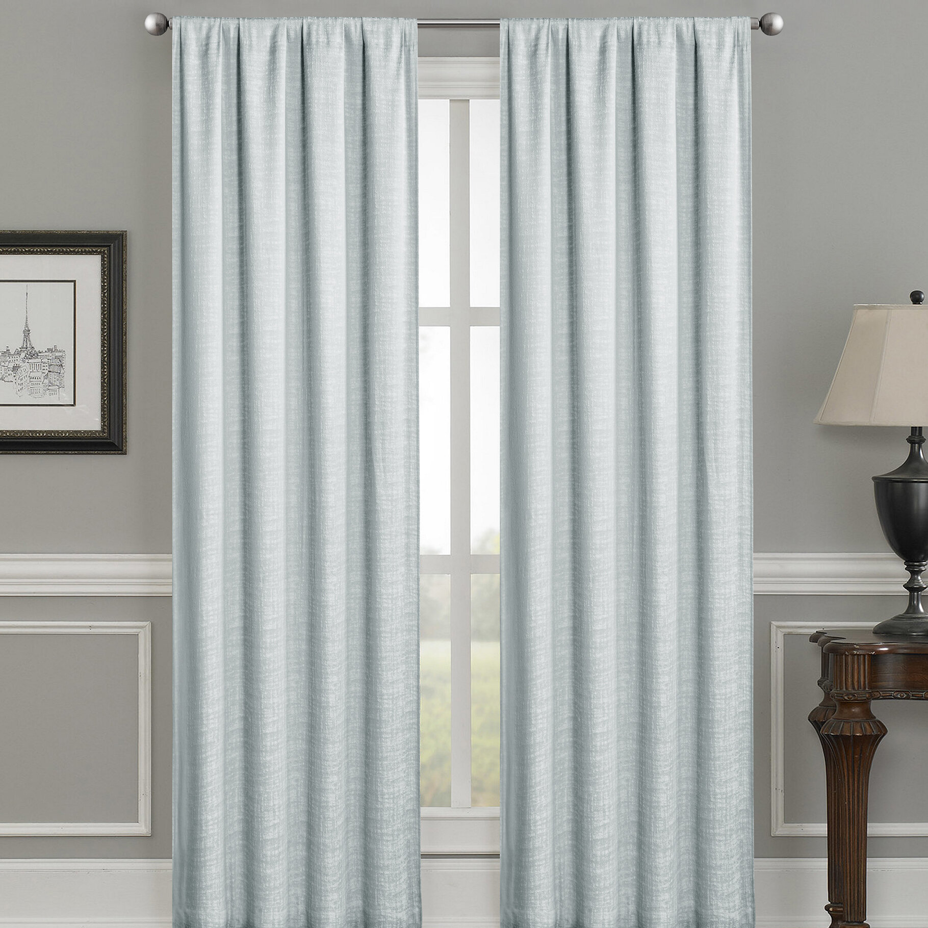 Morelli Solid Color Max Blackout Thermal Rod Pocket Single Curtain Panel For Luxury Collection Faux Leather Blackout Single Curtain Panels (View 18 of 20)
