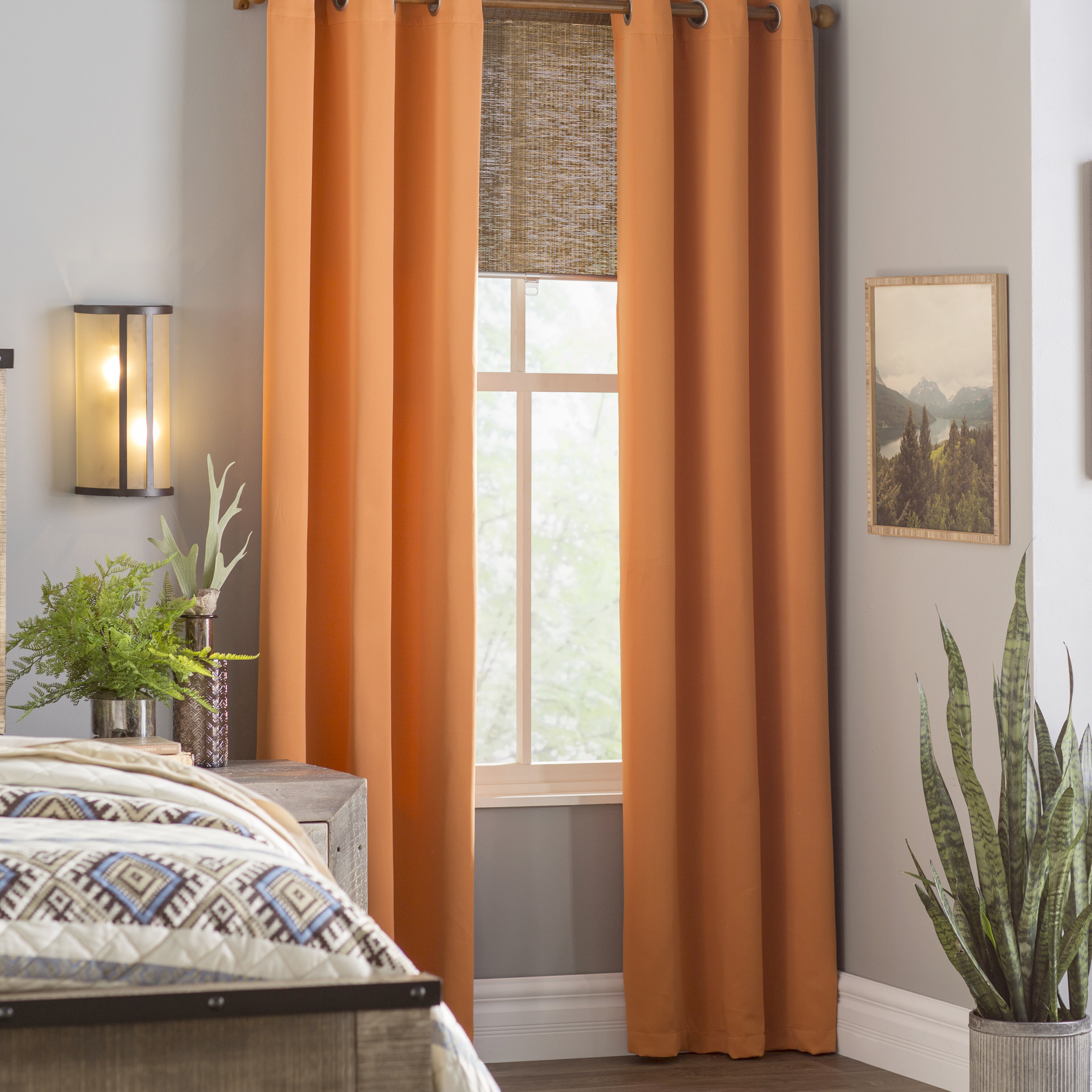 Morton Solid Blackout Grommet Curtain Panels Throughout Silvertone Grommet Thermal Insulated Blackout Curtain Panel Pairs (View 17 of 30)