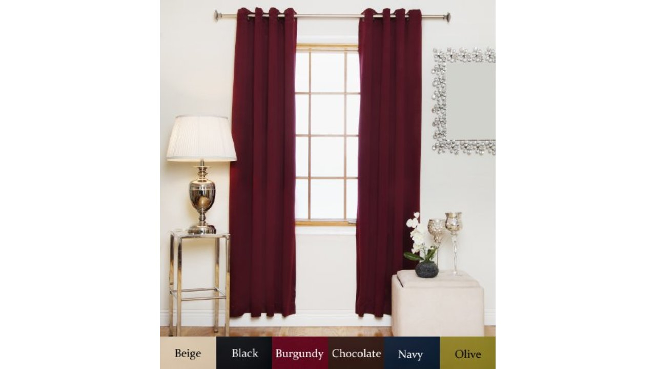 Navy Antique Brass Grommet Top Thermal Insulated Blackout Pertaining To Thermal Insulated Blackout Curtain Pairs (View 20 of 30)