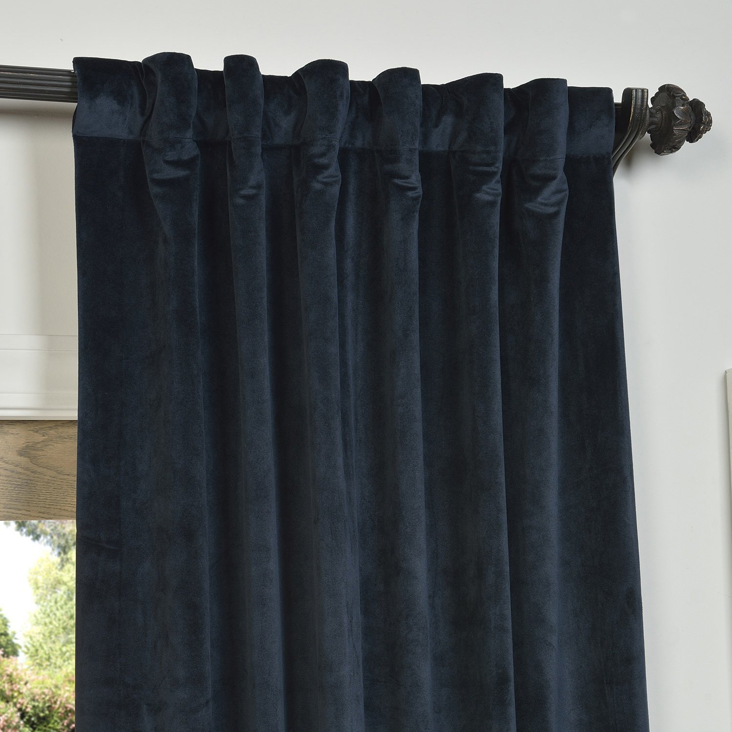 Navy Blue Velvet Curtains 116655 Lush Decor Velvet Dream In Velvet Dream Silver Curtain Panel Pairs (View 24 of 31)