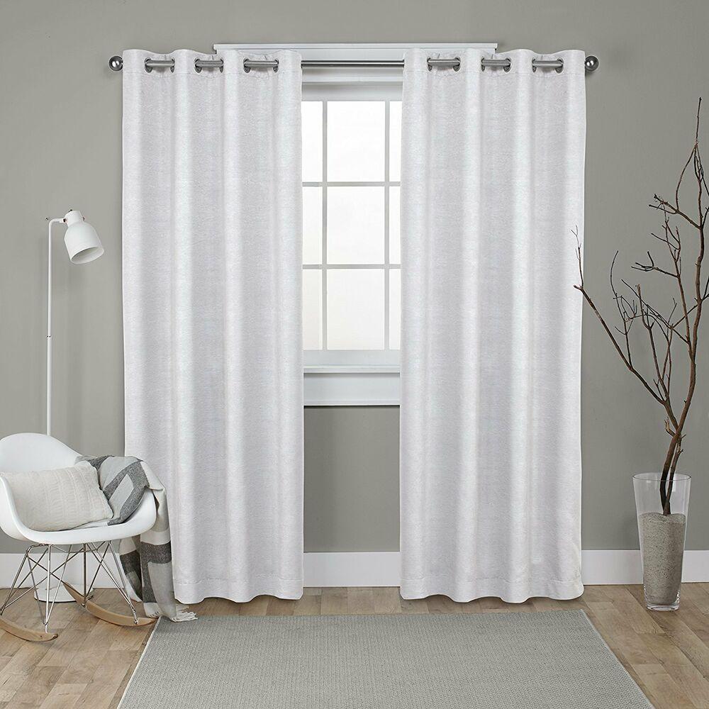 New Exclusive Home Indoor/outdoor Cabana Grommet Top Curtain Panel Pair Vanilla 642472017300 | Ebay Regarding Indoor/outdoor Solid Cabana Grommet Top Curtain Panel Pairs (View 20 of 20)