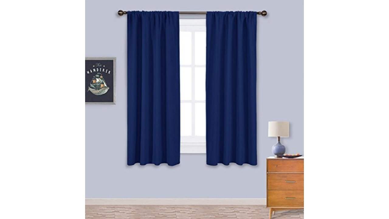 Nicetown Burgundy Curtains Blackout Drapes – Christmas In Solid Insulated Thermal Blackout Curtain Panel Pairs (View 23 of 30)