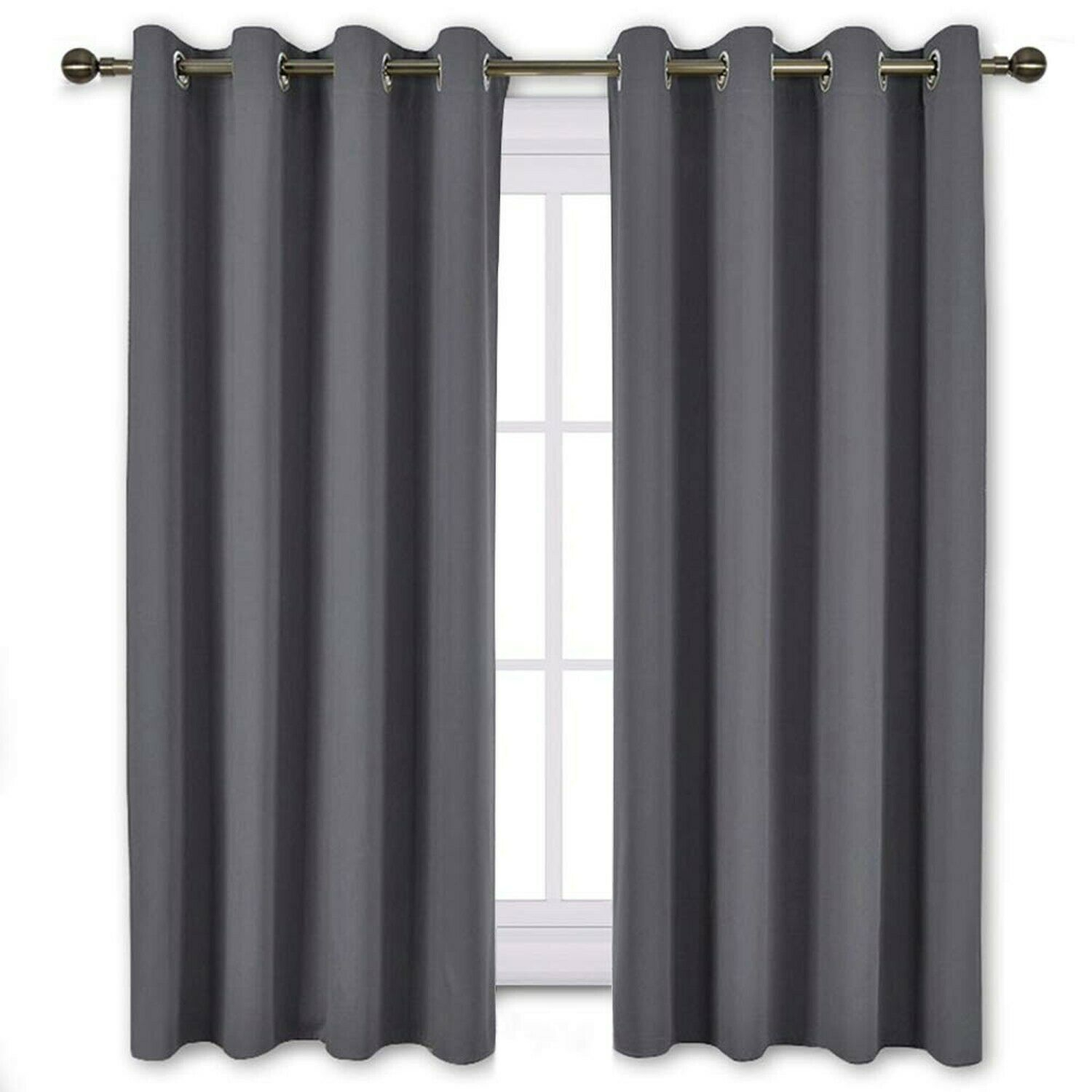 Nicetown Window Treatment Thermal Insulated Solid Grommet Blackout Intended For Solid Cotton True Blackout Curtain Panels (View 22 of 30)
