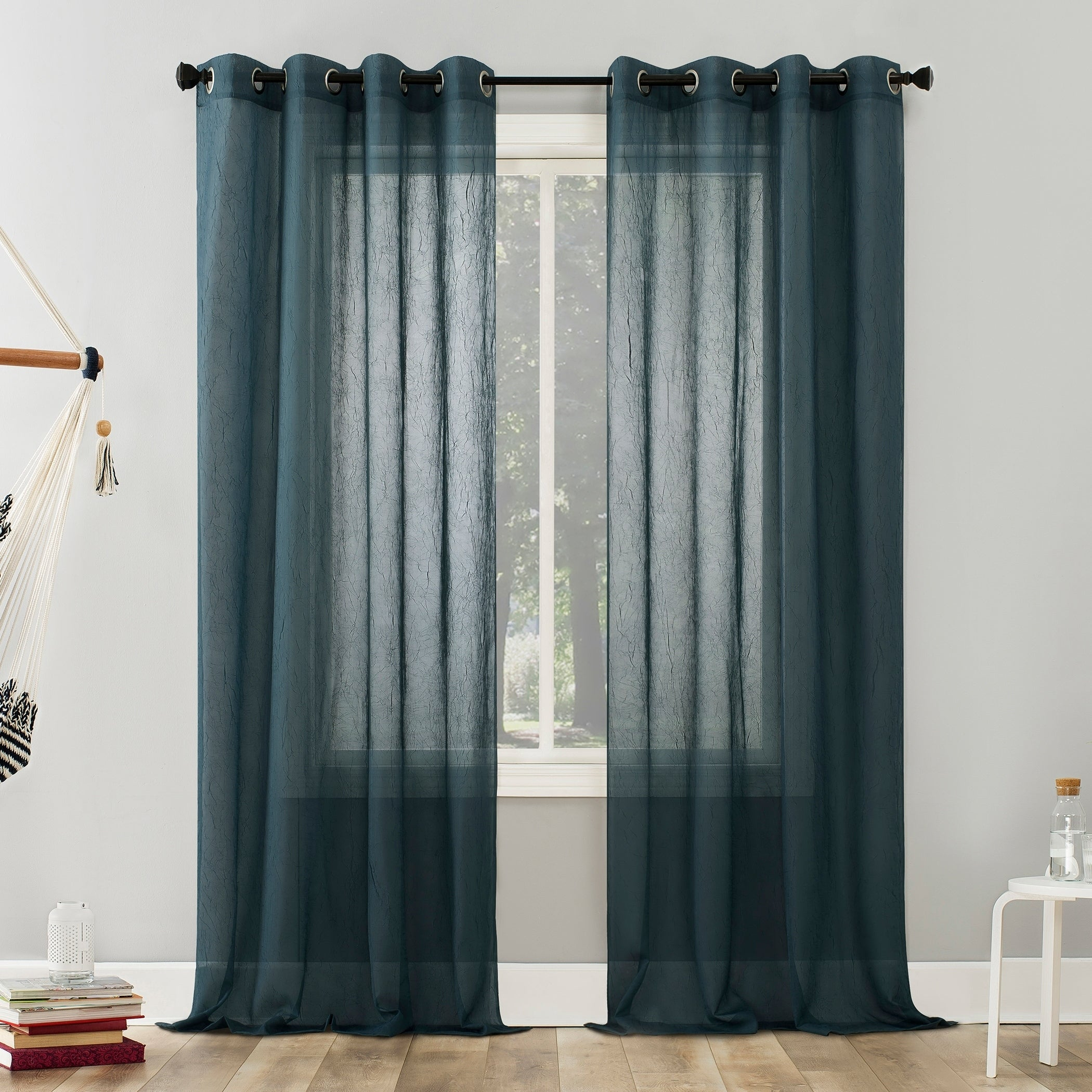 Featured Photo of Erica Sheer Crushed Voile Single Curtain Panels