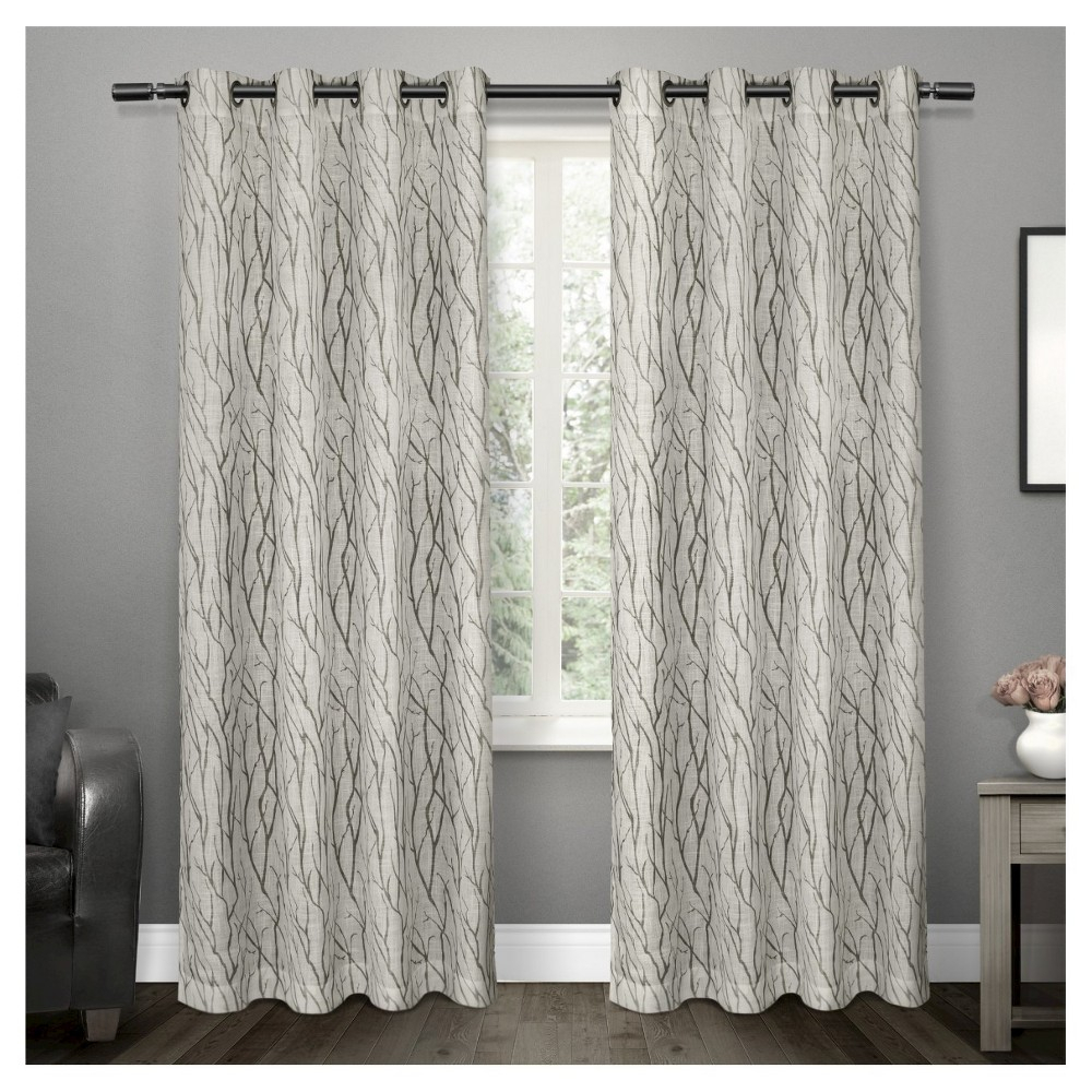 Oakdale Textured Linen Motif Grommet Top Window Curtain Inside Oakdale Textured Linen Sheer Grommet Top Curtain Panel Pairs (View 6 of 20)
