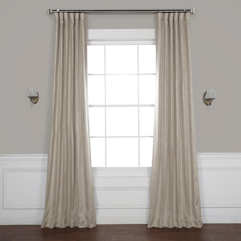 Oatmeal Faux Linen Blackout Curtain Inside Faux Linen Extra Wide Blackout Curtains (View 15 of 20)