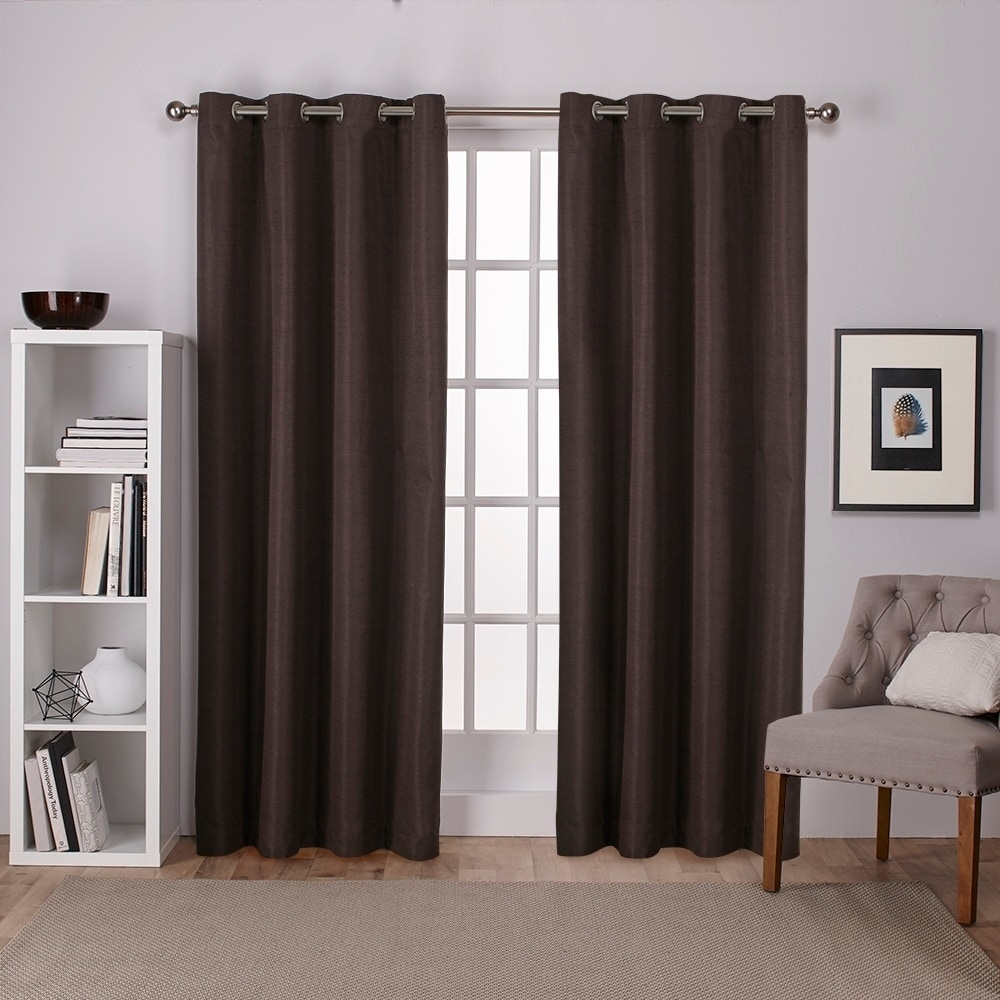 Oliver & James Botero Raw Silk Thermal Insulated Grommet Top Curtain Panel Pair Intended For Raw Silk Thermal Insulated Grommet Top Curtain Panel Pairs (View 3 of 20)