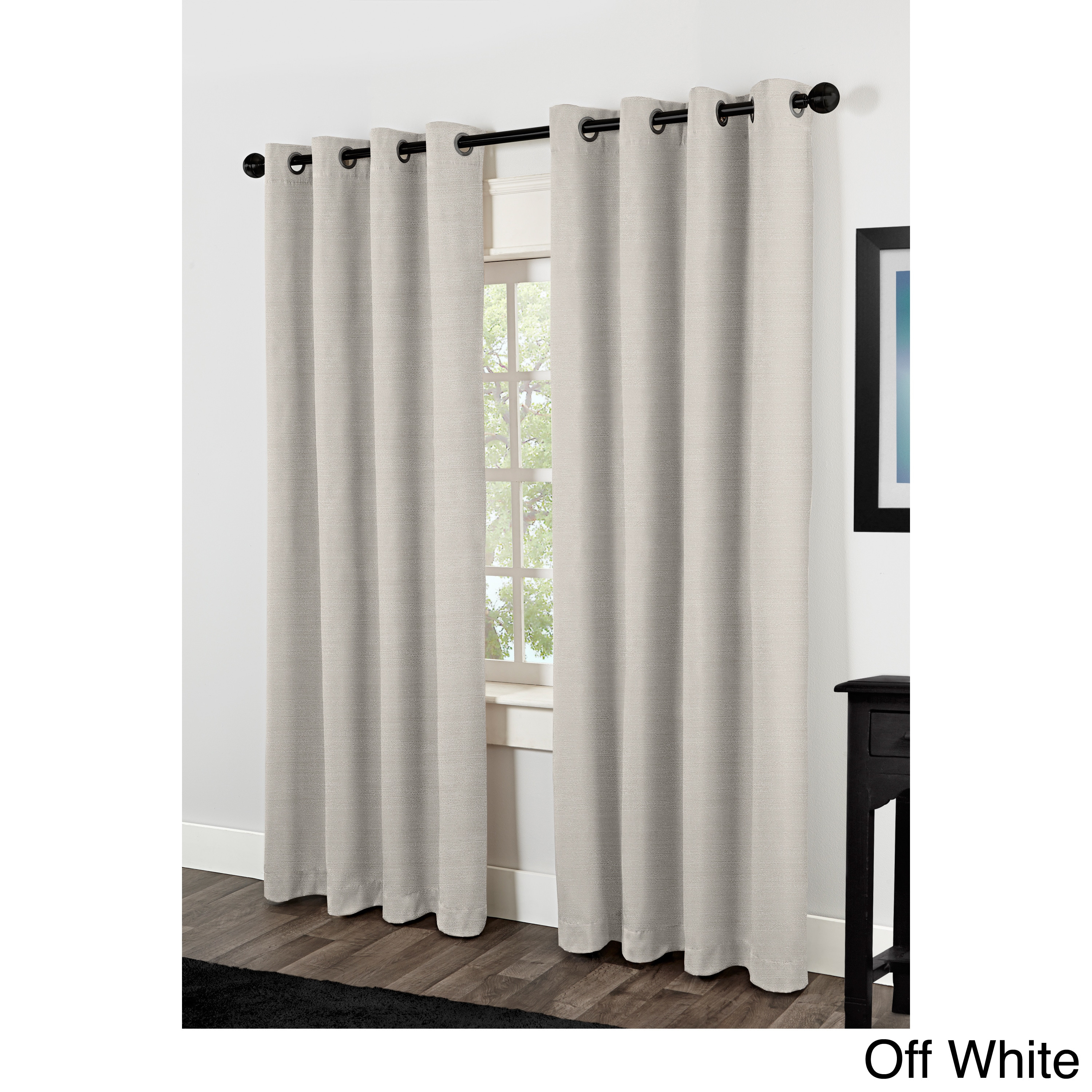 Oliver & James Botero Raw Silk Thermal Insulated Grommet Top Curtain Panel Pair Pertaining To Raw Silk Thermal Insulated Grommet Top Curtain Panel Pairs (View 7 of 20)