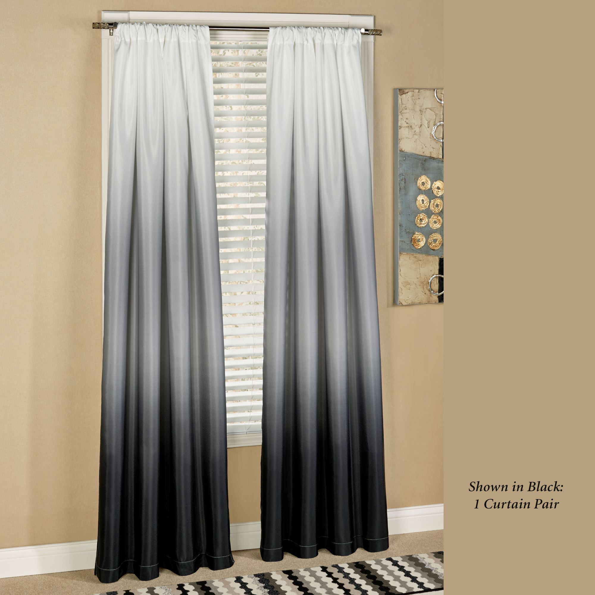Ombre Curtains Grey | Flisol Home Intended For Ombre Faux Linen Semi Sheer Curtains (View 18 of 20)