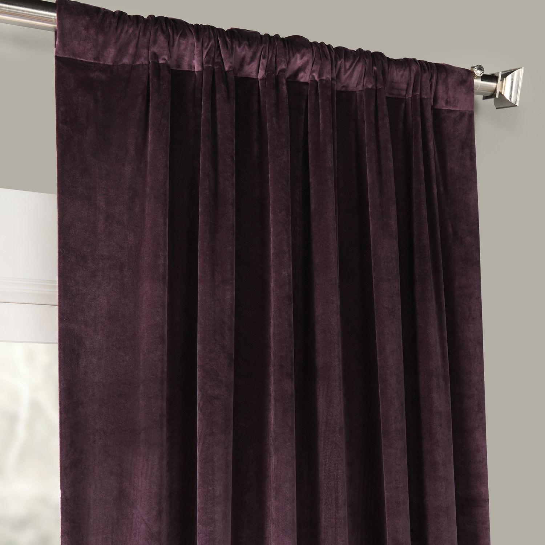 Omega Purple Heritage Plush Velvet Curtain Intended For Heritage Plush Velvet Single Curtain Panels (View 15 of 20)