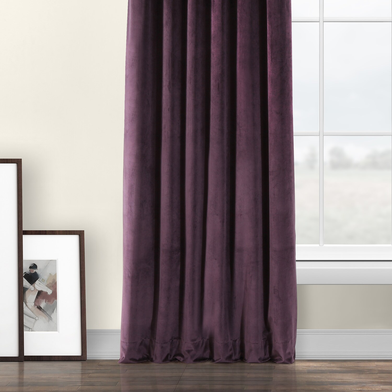 Omega Purple Heritage Plush Velvet Curtain Within Heritage Plush Velvet Curtains (View 16 of 20)