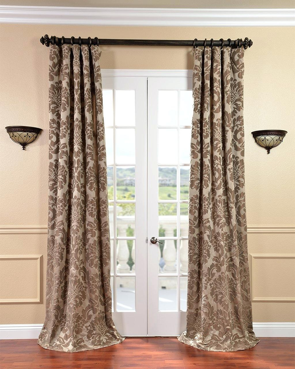 Overstock Silk Drapes 96 84 Eff Signature Ivory Velvet Within Signature Ivory Velvet Blackout Single Curtain Panels (View 24 of 34)