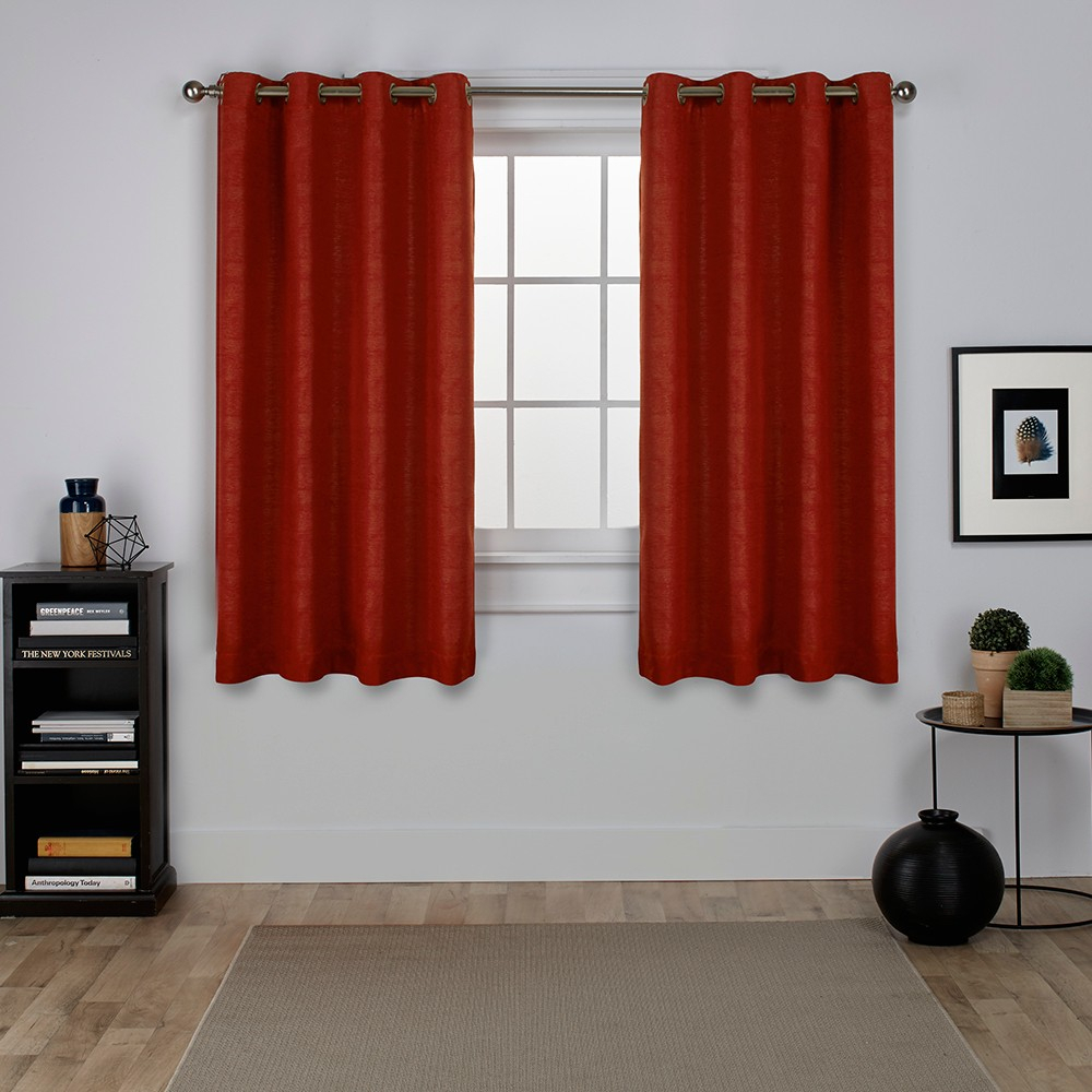 Oxford Textured Sateen Thermal Room Darkening Grommet Top Intended For Oxford Sateen Woven Blackout Grommet Top Curtain Panel Pairs (View 12 of 20)