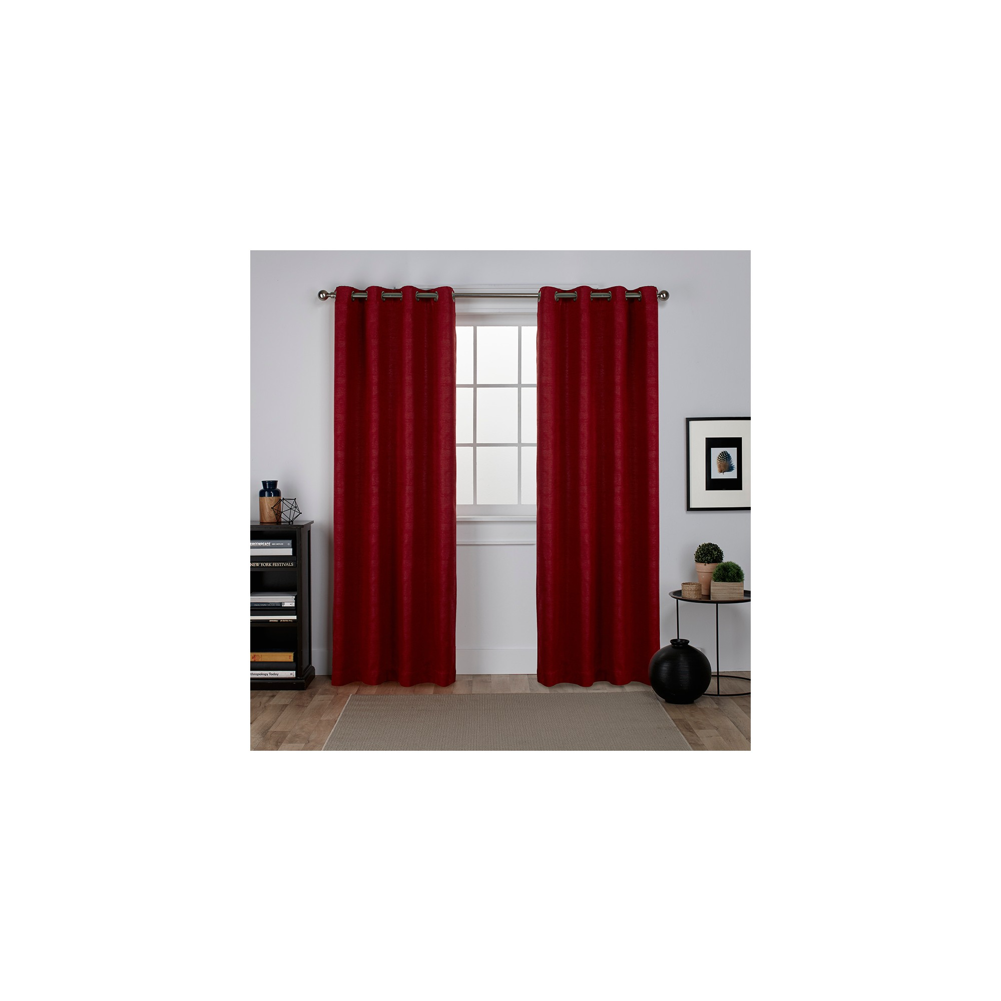 Oxford Textured Sateen Thermal Room Darkening Grommet Top Within Oxford Sateen Woven Blackout Grommet Top Curtain Panel Pairs (View 15 of 20)