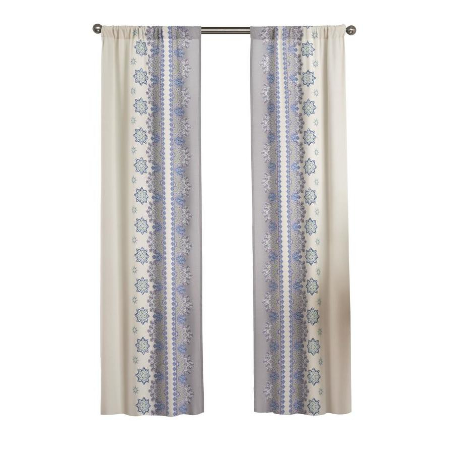Pairs To Go Mantra 84 In Blue Polyester Light Filtering Throughout Curtain Panel Pairs (View 13 of 20)