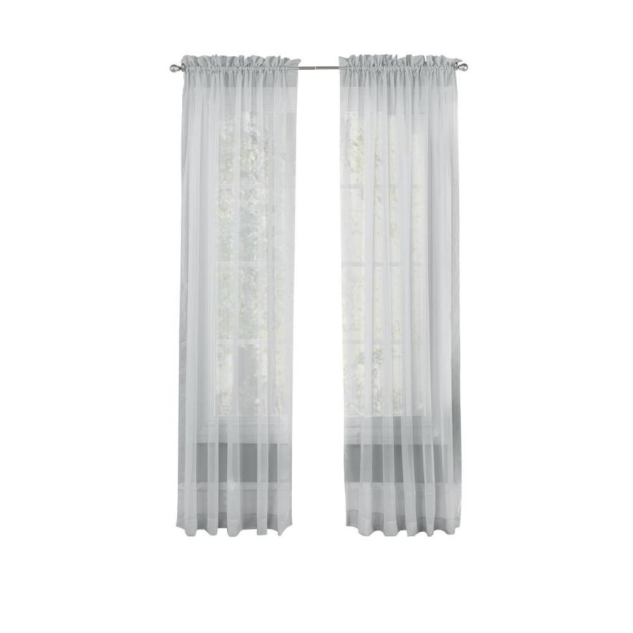 Pairs To Go Victoria Voile 84 In Grey Polyester Sheer With Regard To Pairs To Go Victoria Voile Curtain Panel Pairs (View 5 of 20)
